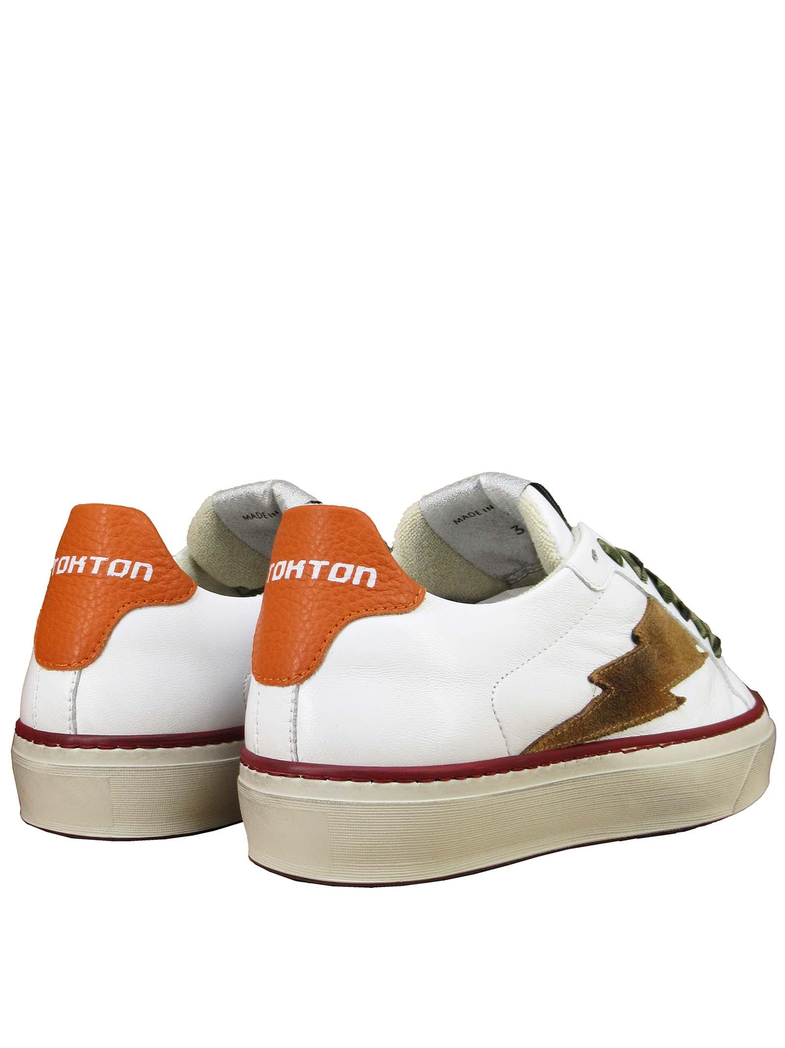 Calzature Donna Sneakers Stringate in Pelle Bianca con Fondo in Gomma Stokton | Sneakers | BLAZE-DVALENCIA