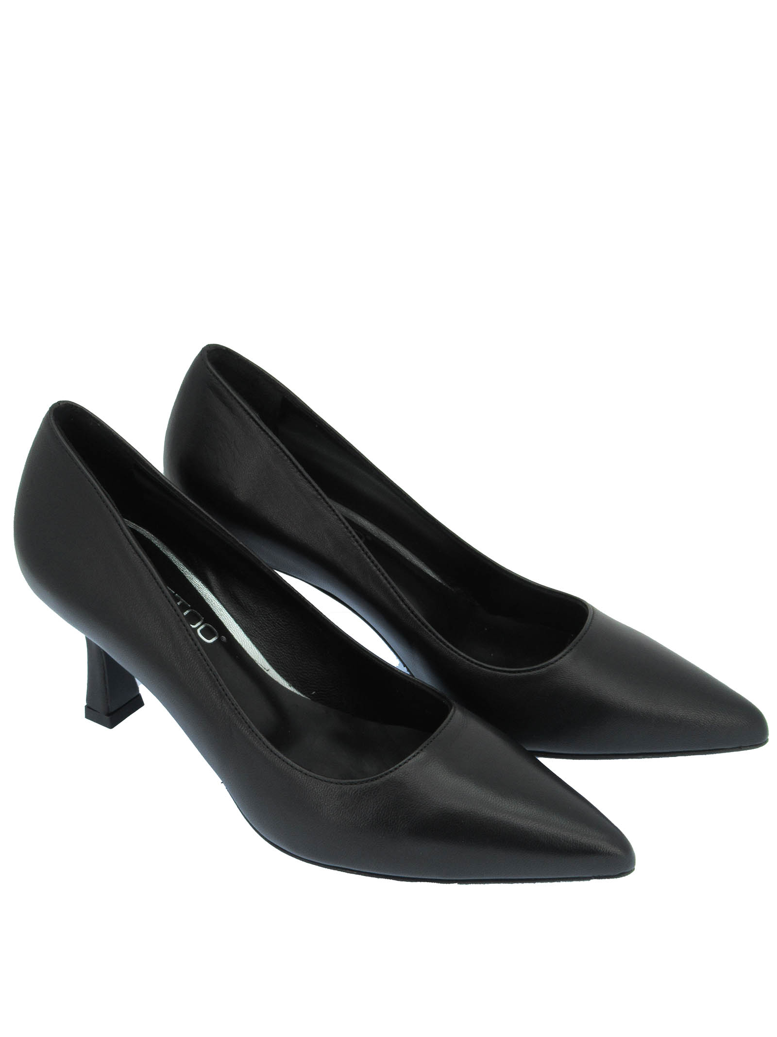 Women's Shoes Décolleté in Black Leather with Pointed Toe and High Heel Tattoo   Pumps   A 74001