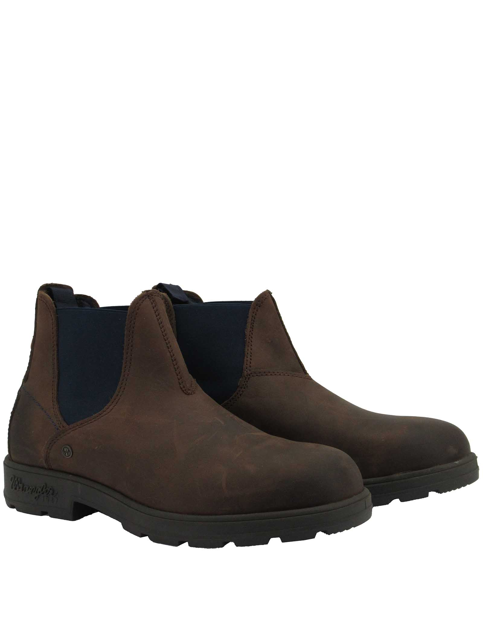 Men's Shoes Beatles Buddy Chelsea Boots in Tan Leather with Rubber Sole Wrangler | Ankle Boots | WM12030A030