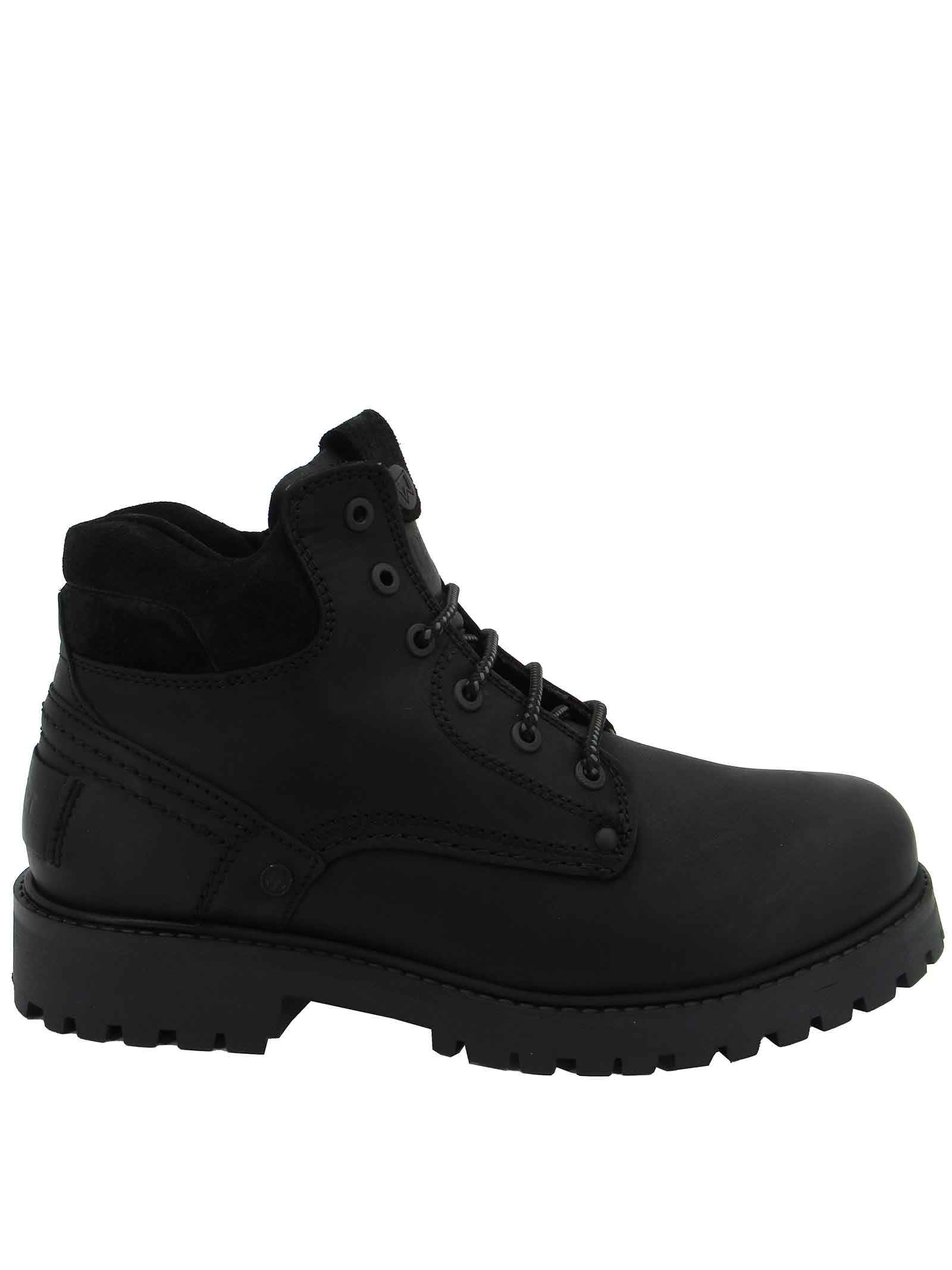 Men's Shoes Boots Yuma Laced Amphibian boots in Black Leather with Rubber Sole Tank Wrangler | Ankle Boots | WM12000A062