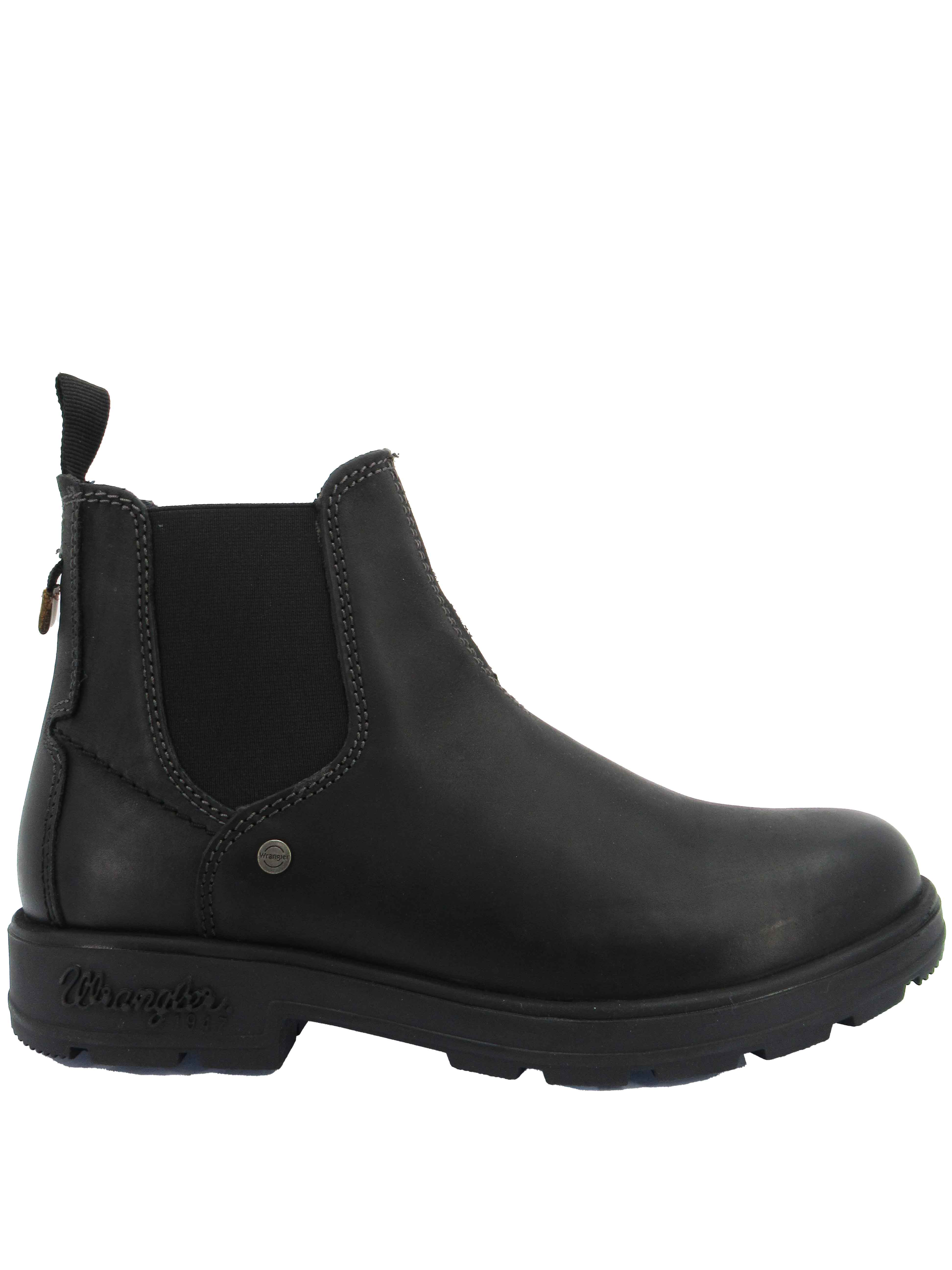 Men's Beatles Buddy Chelsea boots in black leather with rubber sole Wrangler | Ankle Boots | WM12030A296