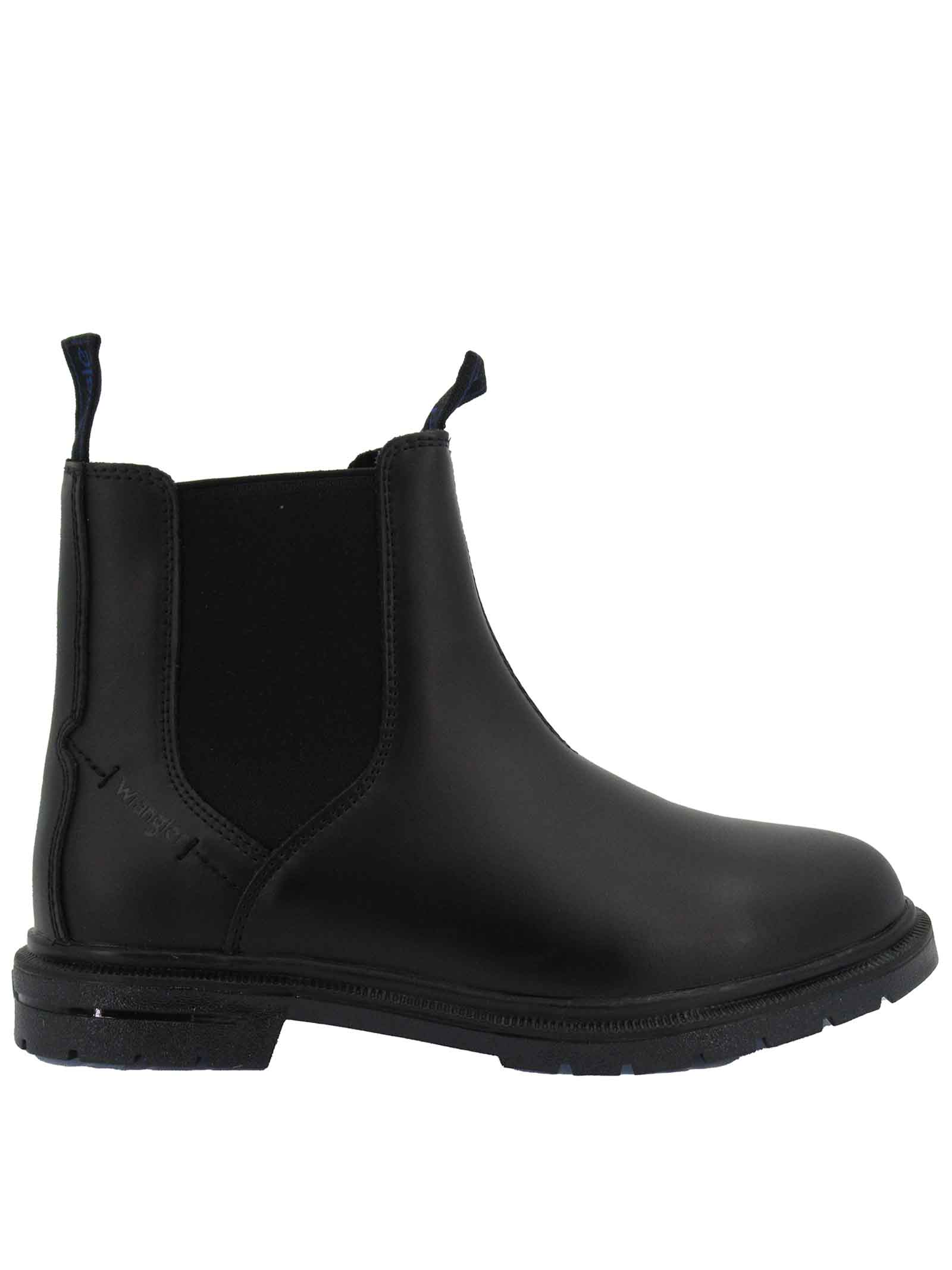 Men's Shoes Ankle Boots Beatles Spike Chelsea in Matt Black Leather with Rubber Sole Tank Wrangler | Ankle Boots | WM12041A062