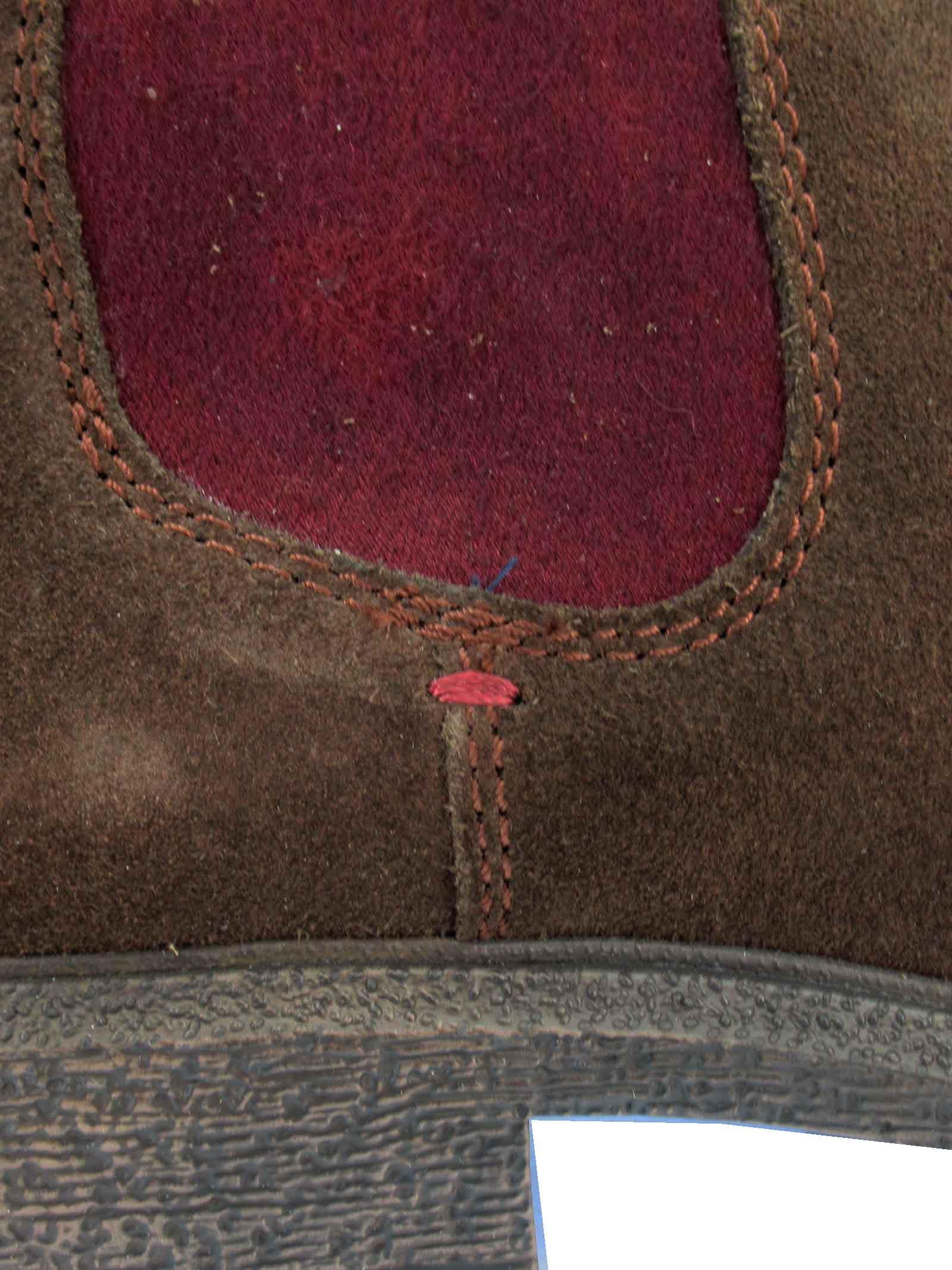 Calzature Uomo Stivaletti Beatles Custom Chelsea in Camoscio Marrone con Fondo in Gomma Wrangler | Stivaletti | WM12081A030