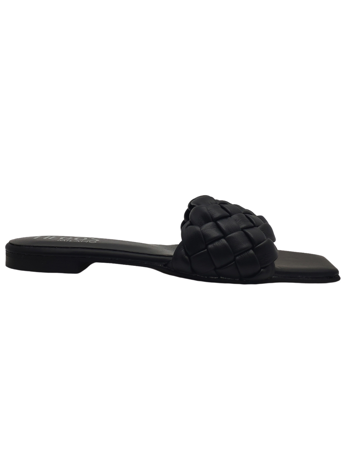Flat Braided Sandals Woman Hegos | Flat sandals | 7131NERO