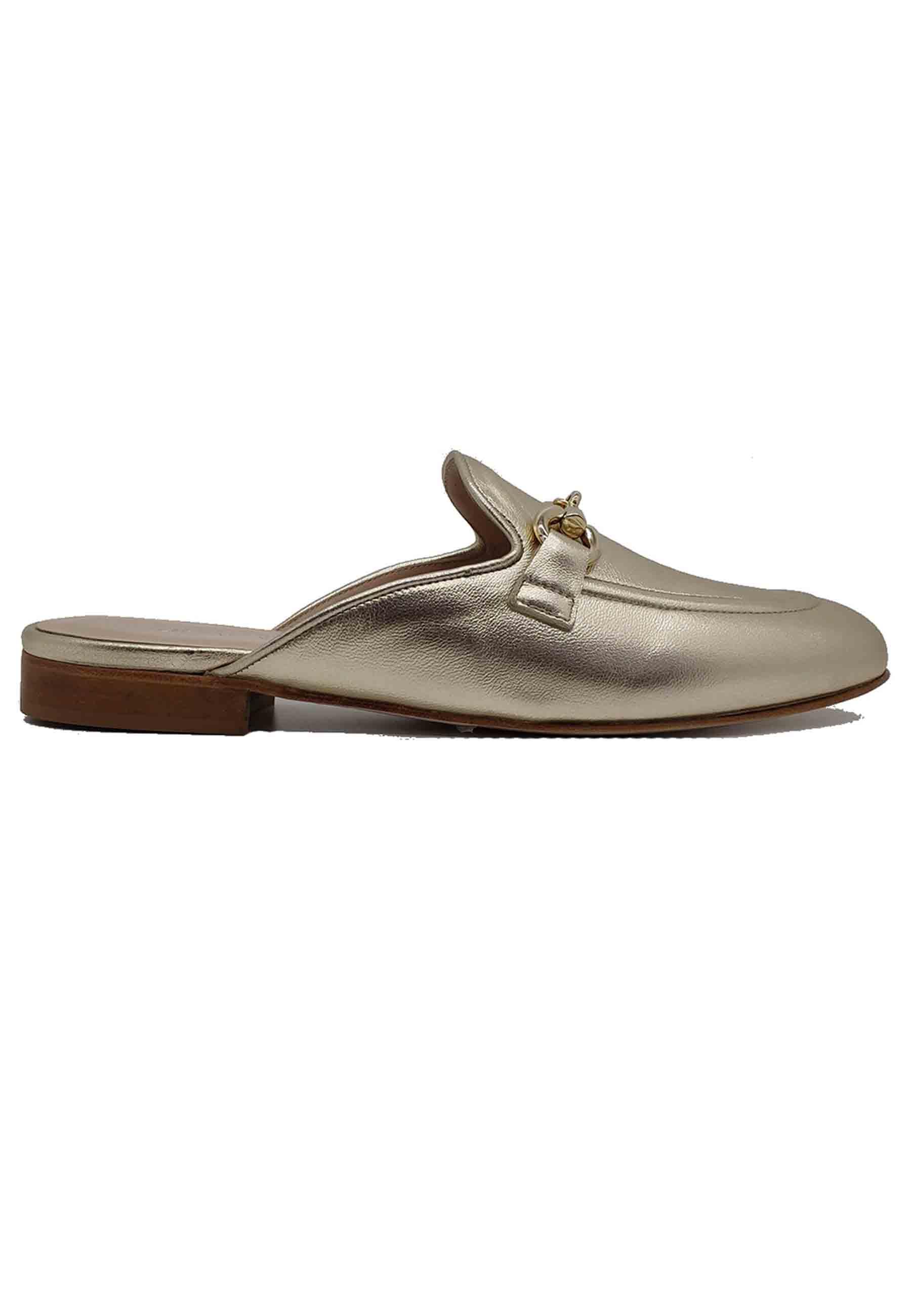 Laminated Woman Sabot Spatarella   Sandals   520PLATINO