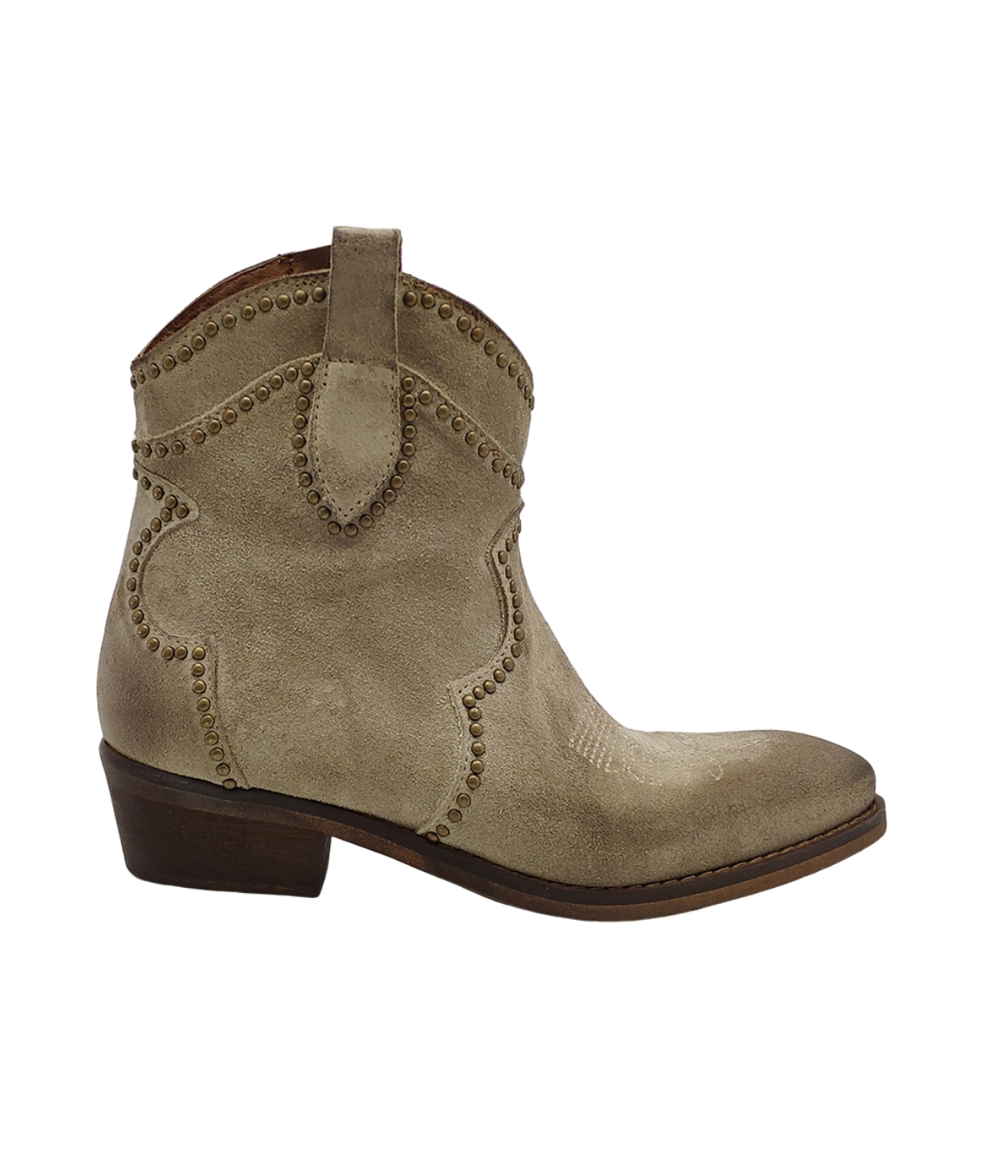 Women's Texan Ankle Boots Studs Zoe | Ankle Boots | OLD 01CORDA