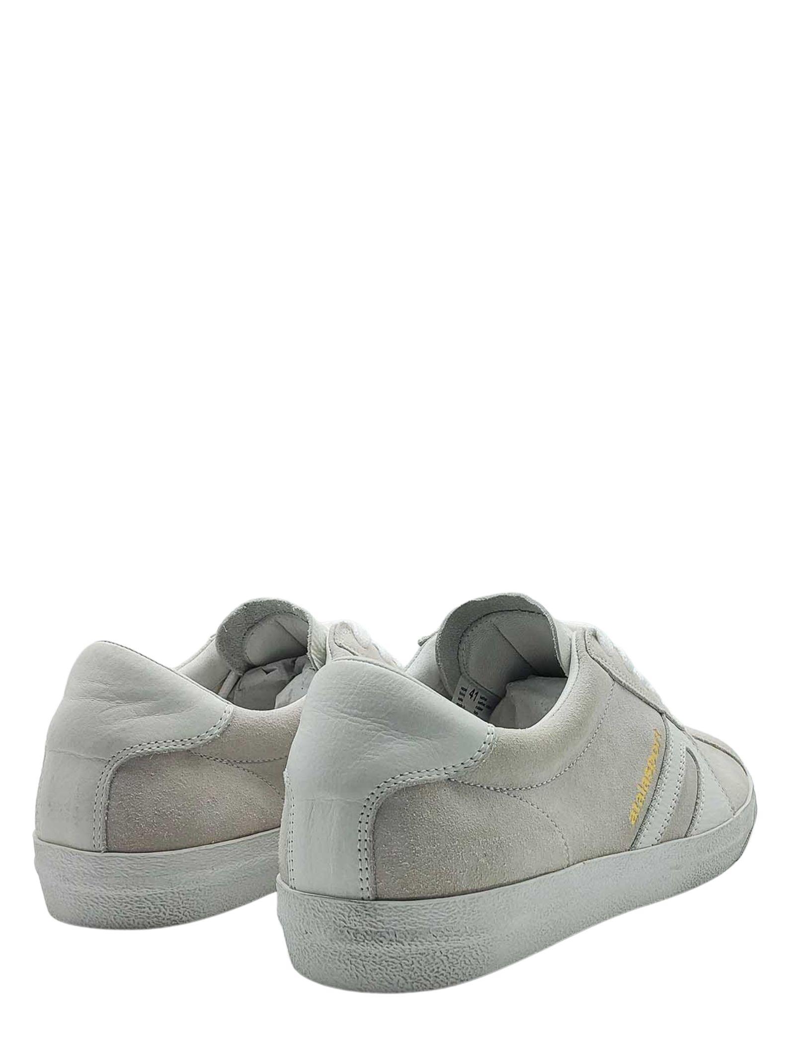 Calzature Uomo Sneakers Stringate in Camoscio Off White con Fondo Bianco Vintage Atala   Sneakers   10022100