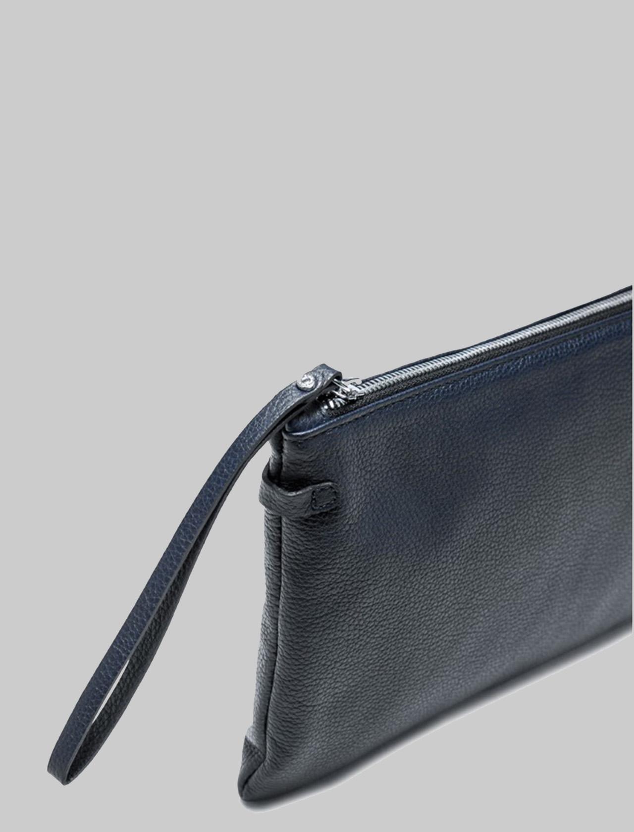Borsa Donna Pochette Maxi Hermy In Pelle Blu Navy Con Manico E Tracolla Regolabile E Removibile Gianni Chiarini | Borse e zaini | BS36950208
