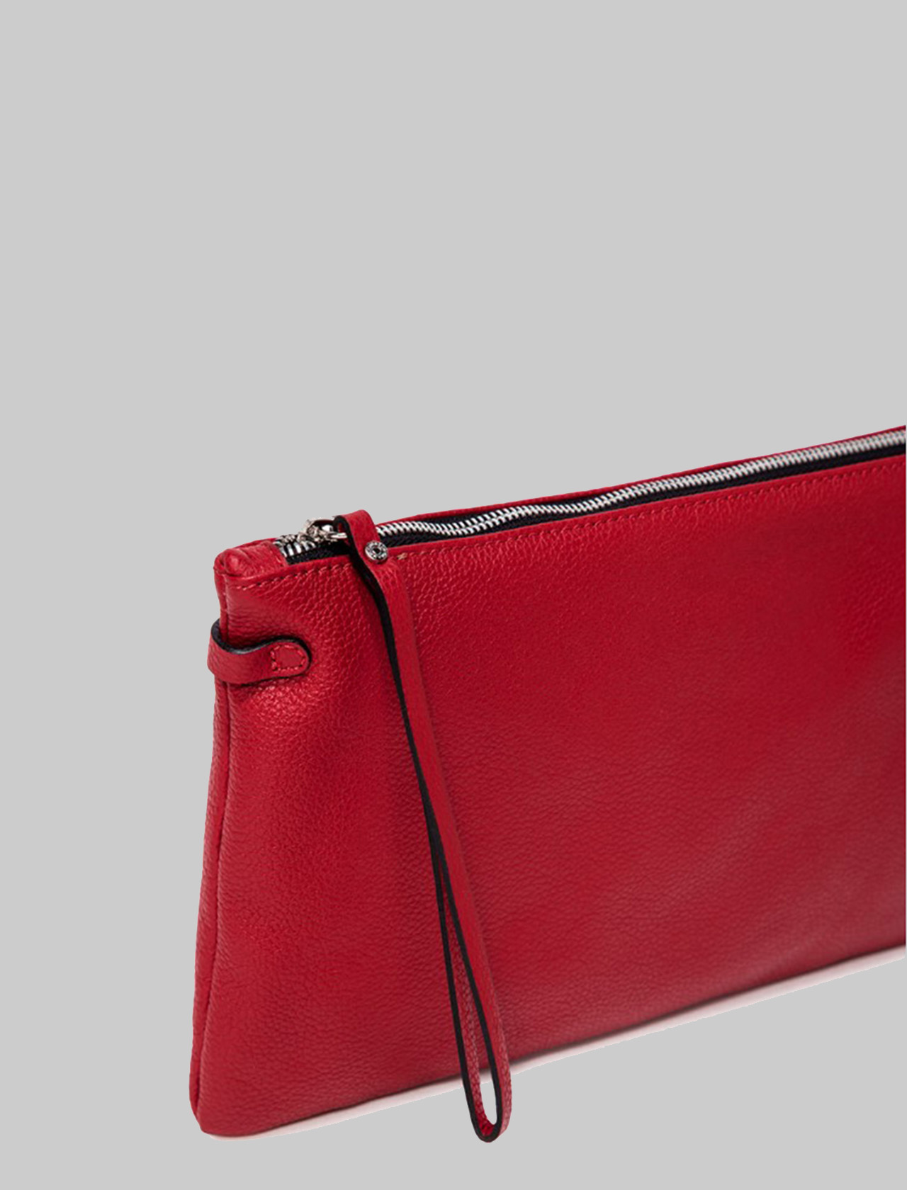 Hermy large women's clutch in red leather with handle and adjustable and removable shoulder strap Gianni Chiarini | Bags and backpacks | BS369511707