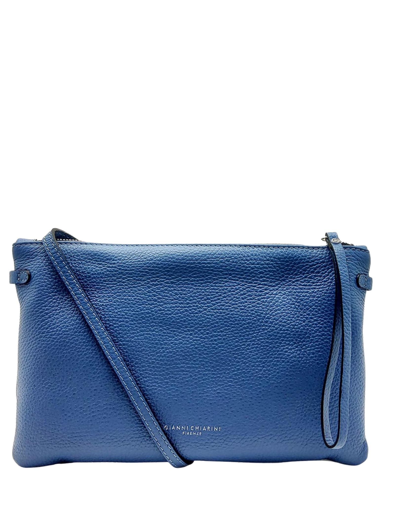 Hermy large women's clutch bag in powder blue leather with handle and adjustable and removable shoulder strap Gianni Chiarini | Bags and backpacks | BS369511710