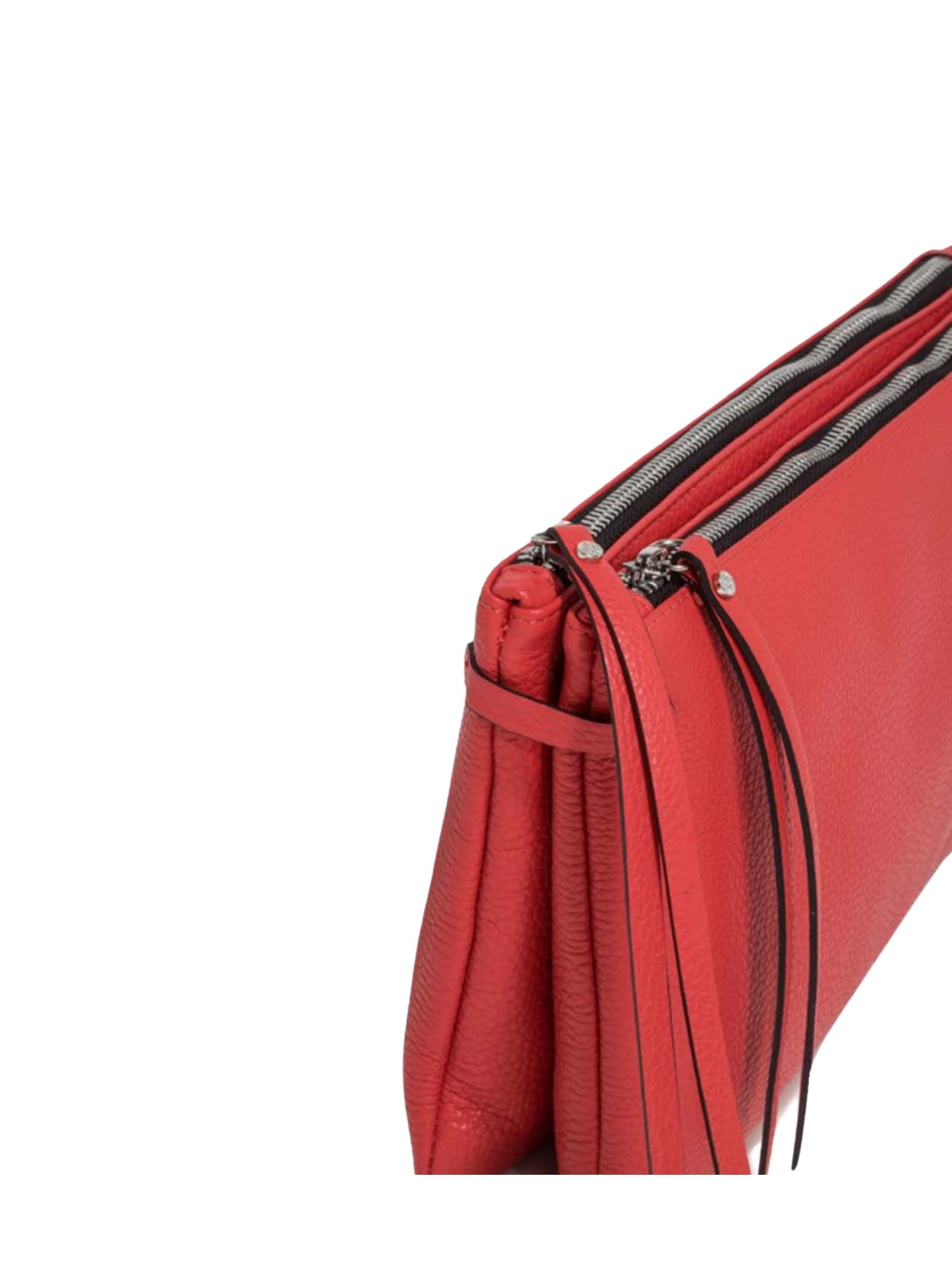 Hermy Double Clutch Bag Woman In Red Leather With Handle And Adjustable And Removable Shoulder Strap Gianni Chiarini | Bags and backpacks | BS369711707