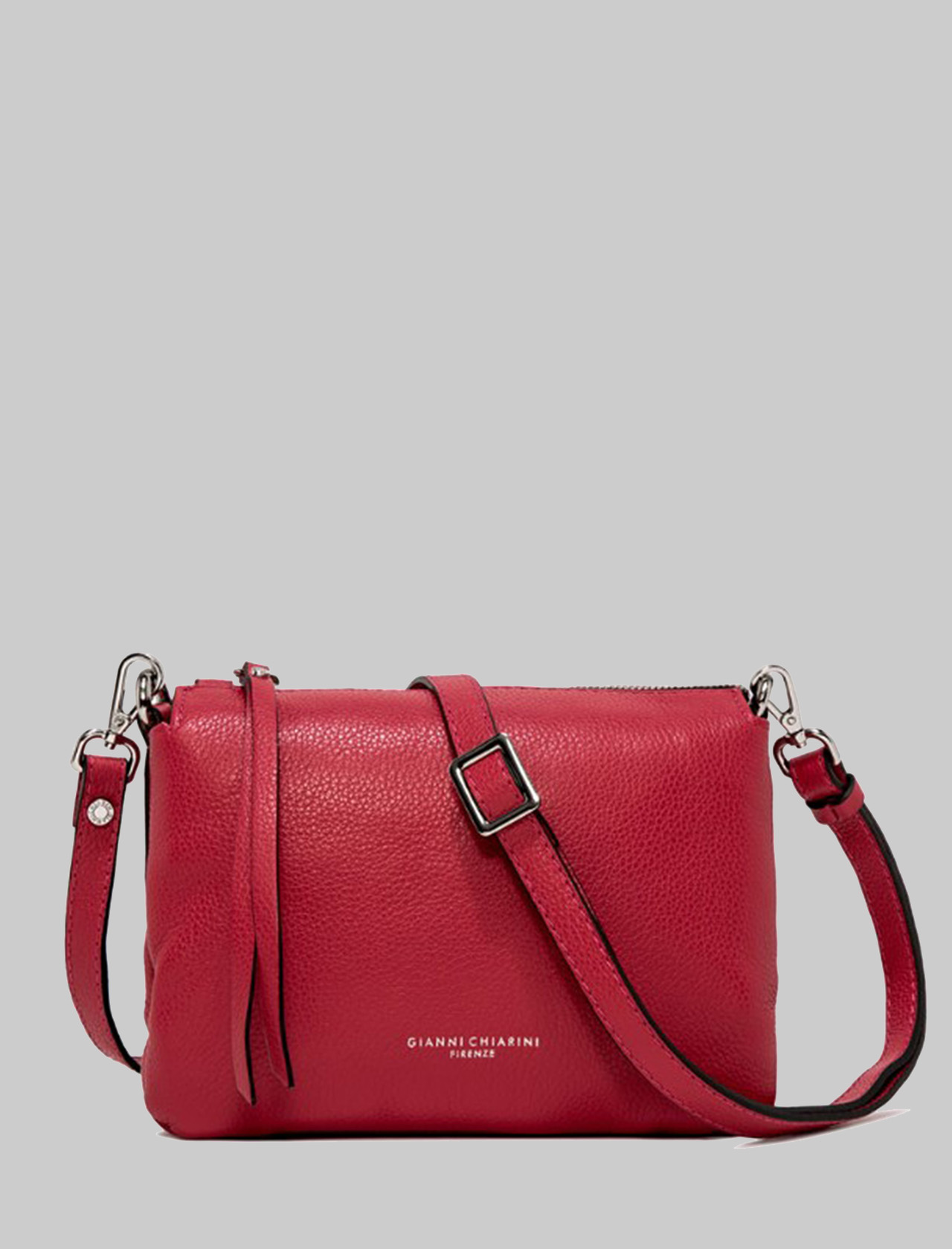 Small Three Shoulder Bag In Red Leather With Removable And Adjustable Shoulder Strap Gianni Chiarini | Bags and backpacks | BS436211707