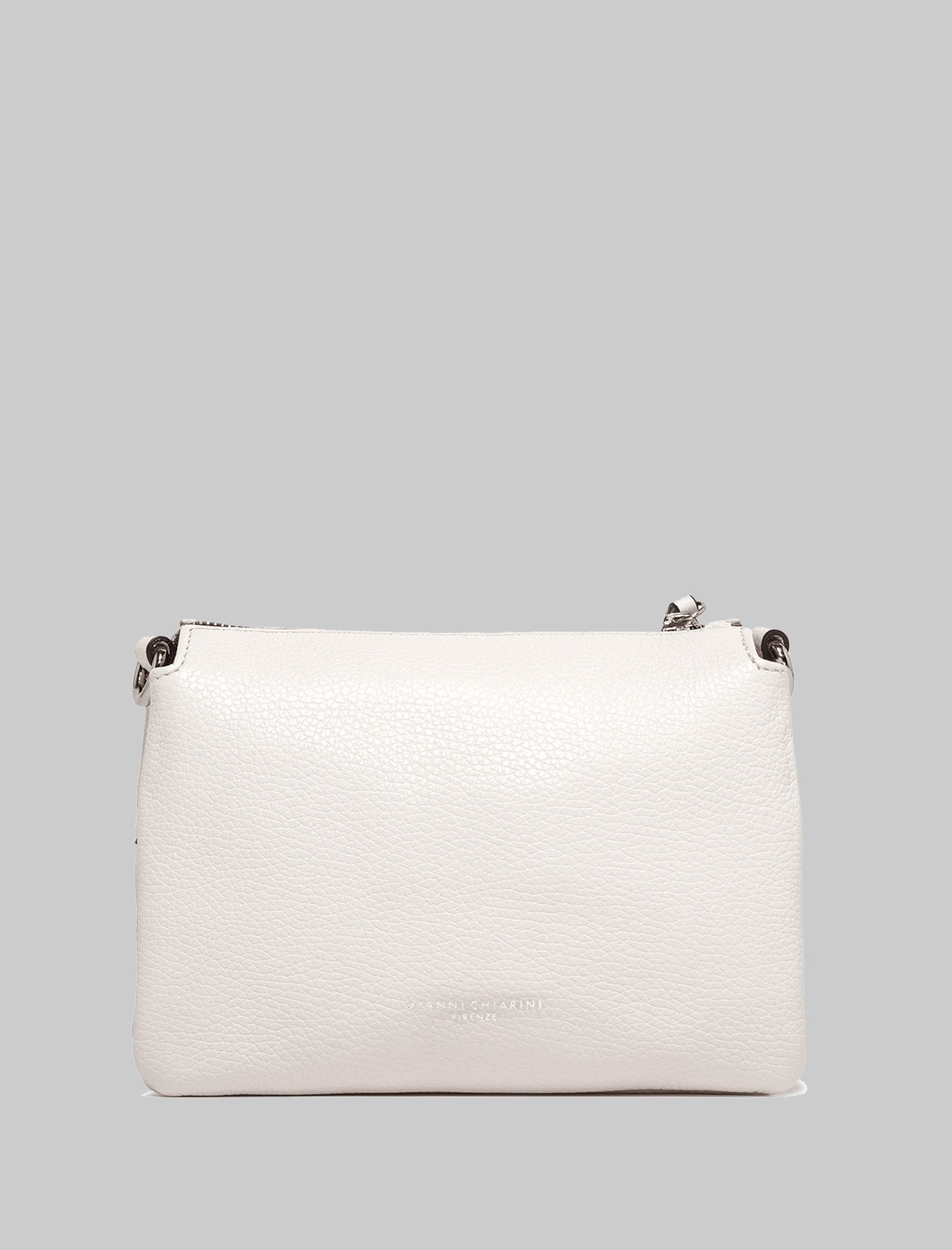 Small Three Shoulder Bag In Cream Leather With Removable And Adjustable Shoulder Strap Gianni Chiarini | Bags and backpacks | BS43623890