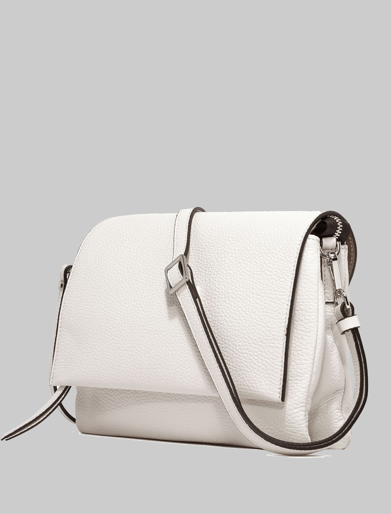 Three Shoulder Bag Woman In Cream Leather With Long Flap And Removable Shoulder Strap Gianni Chiarini | Bags and backpacks | BS43643890