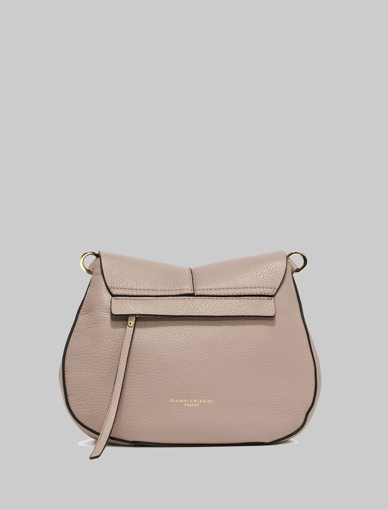 Helena Round Woman Shoulder Bag In Beige Leather With Double Removable Straps Gianni Chiarini | Bags and backpacks | BS603611706