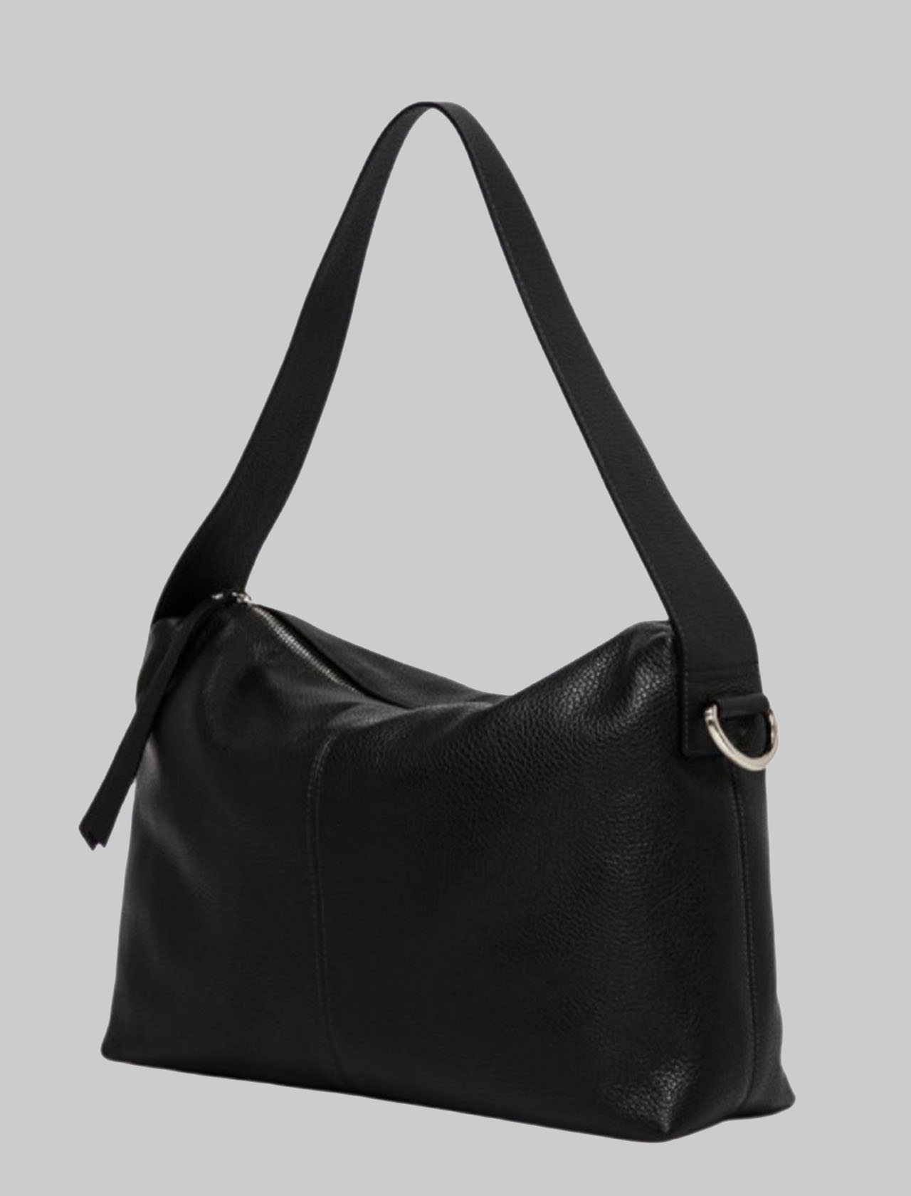 Woman Shoulder Bag Giorgia In Black Leather With Handle And Removable And Adjustable Fabric Shoulder Strap Gianni Chiarini | Bags and backpacks | BS7249001