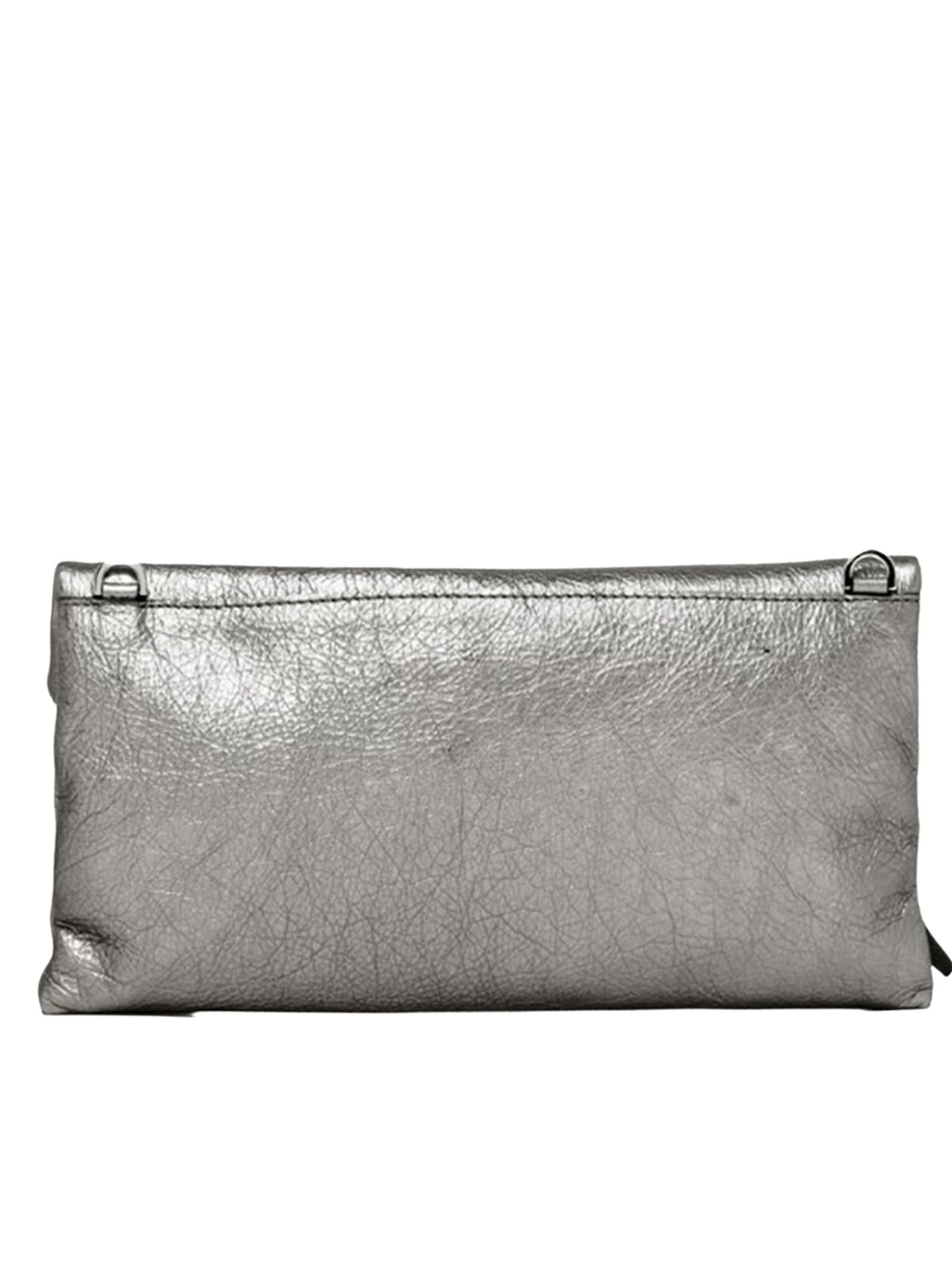Cherry Small Women's Clutch Bag In Silver Leather With Tone Removable Shoulder Strap Gianni Chiarini   Bags and backpacks   BS7374359