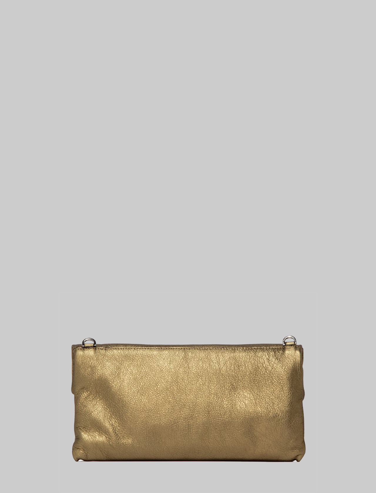 Cherry Small Woman's Clutch Bag In Champagne Leather With Tone Removable Shoulder Strap Gianni Chiarini | Bags and backpacks | BS7374448