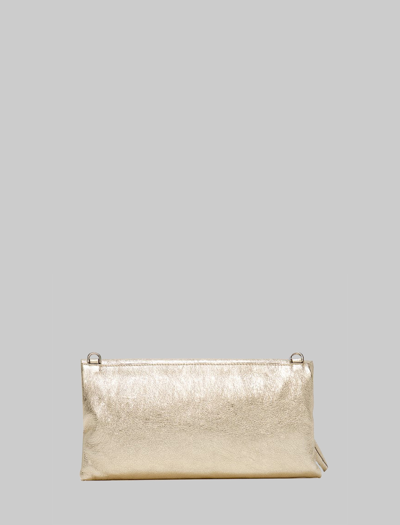 Cherry Small Woman Clutch Bag In Platinum Leather With Tone Removable Shoulder Strap Gianni Chiarini | Bags and backpacks | BS7374571
