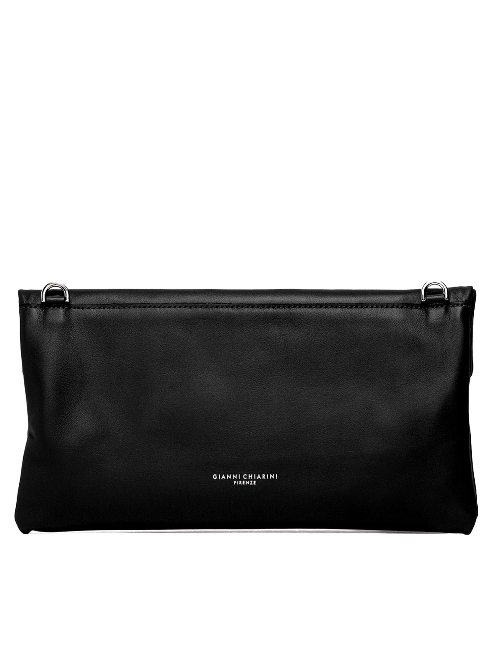 Cherry Women's Clutch Bag In Black Smooth Leather With Tone Removable Shoulder Strap Gianni Chiarini | Bags and backpacks | BS7375001