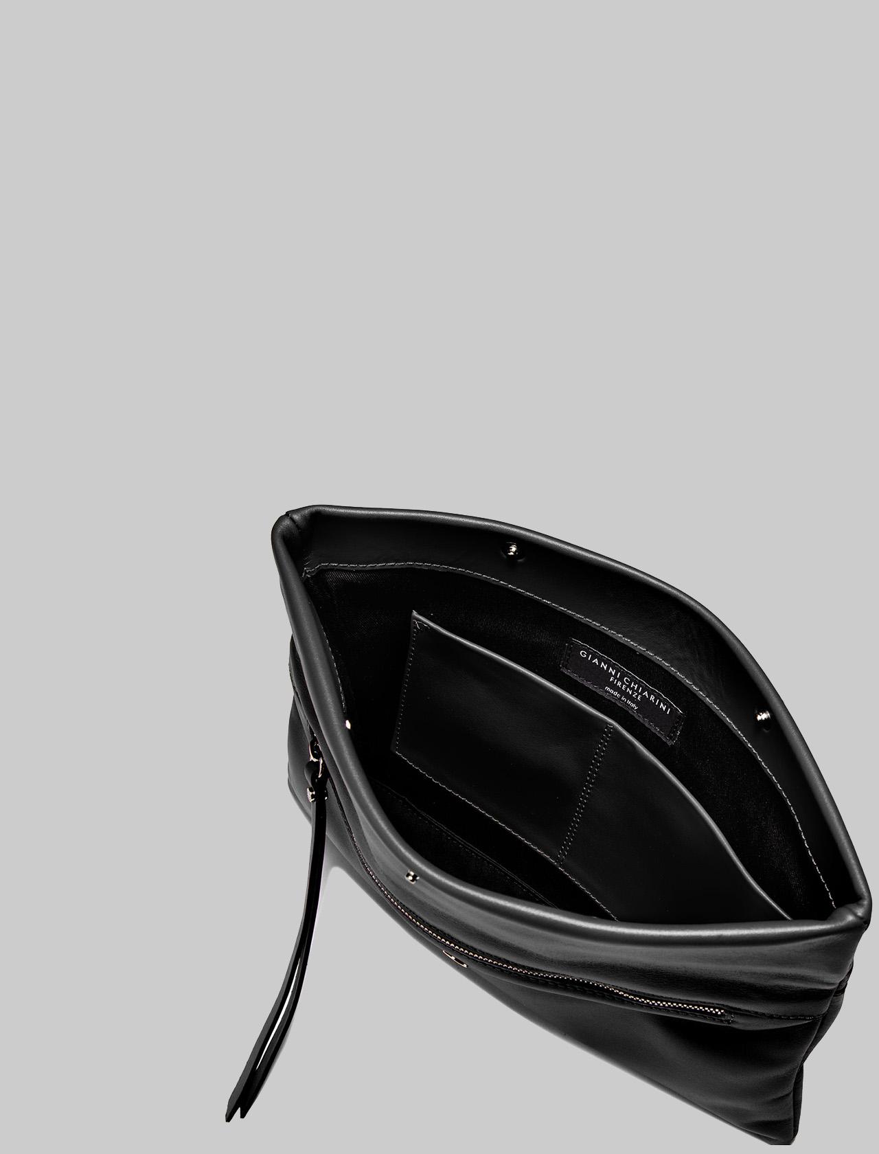 Borsa Donna Pochette Cherry In Pelle Liscia Nera Con Tracolla Removibile A Tono Gianni Chiarini | Borse e zaini | BS7375001