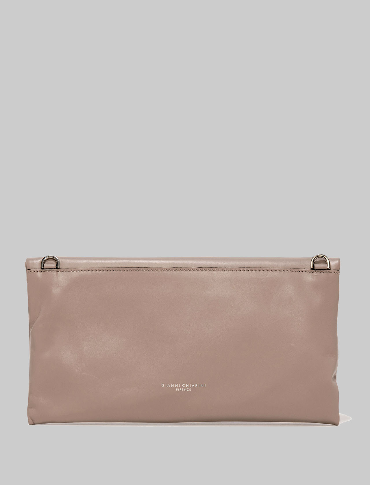 Cherry Woman's Clutch Bag In Powder Pink Smooth Leather With Tone Removable Shoulder Strap Gianni Chiarini | Bags and backpacks | BS737510579