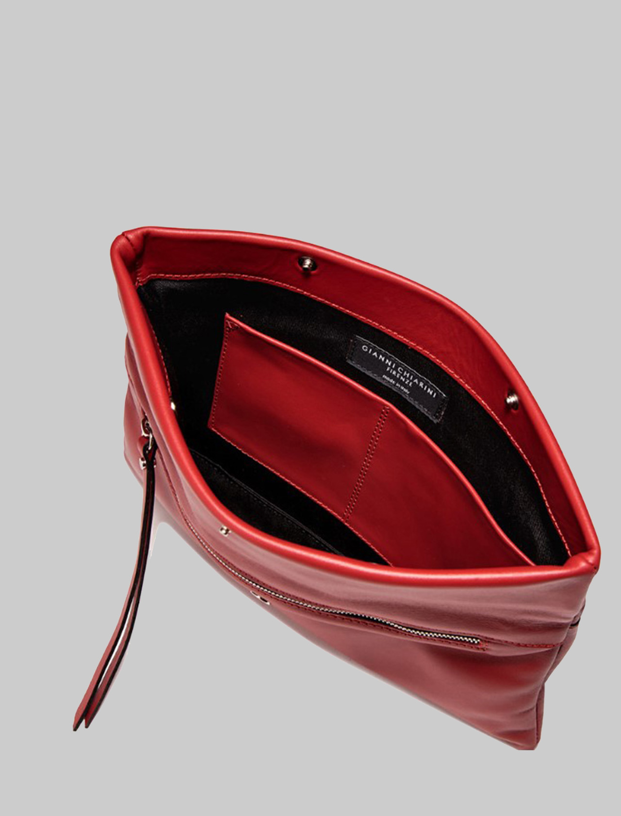 Borsa Donna Pochette Cherry In Pelle Liscia Rossa Con Tracolla Removibile A Tono Gianni Chiarini | Borse e zaini | BS737511707