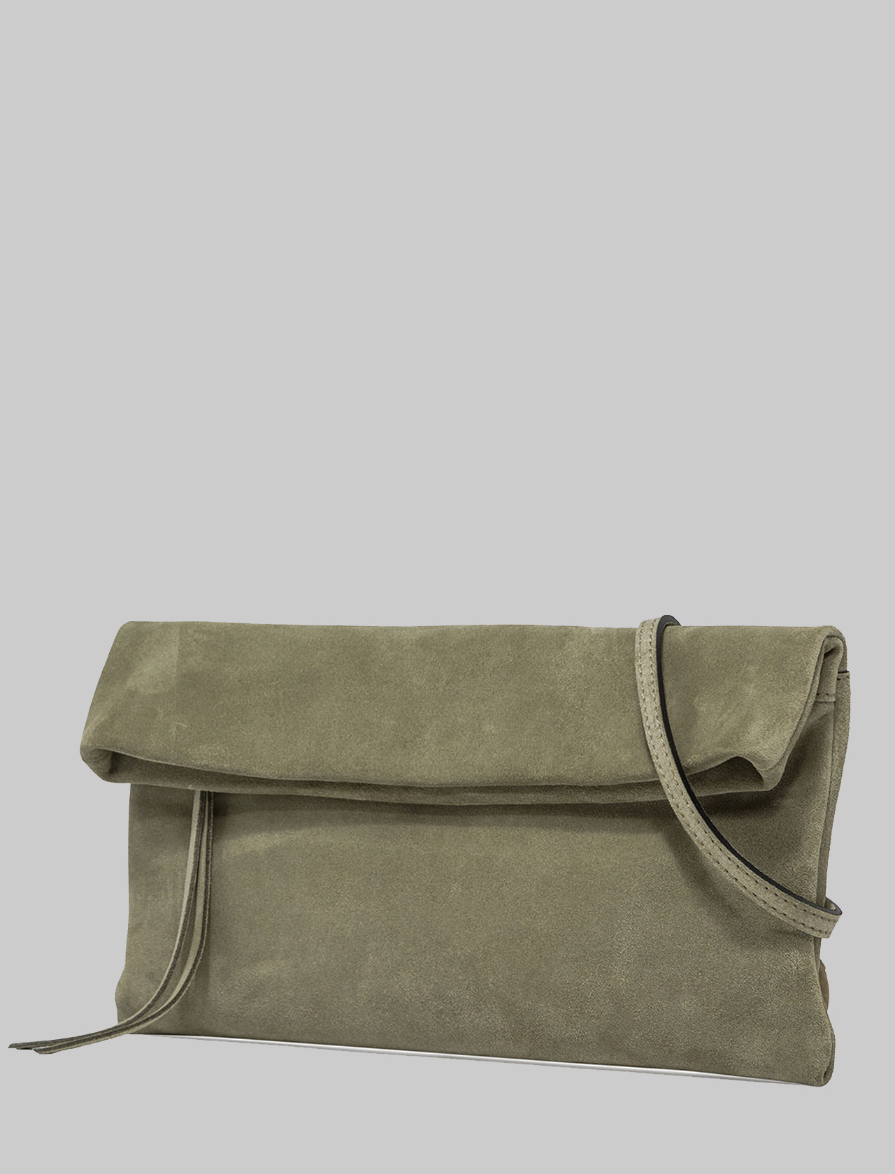 Cherry Women's Clutch Bag In Green Suede With Tone Removable Shoulder Strap Gianni Chiarini | Bags and backpacks | BS73751367