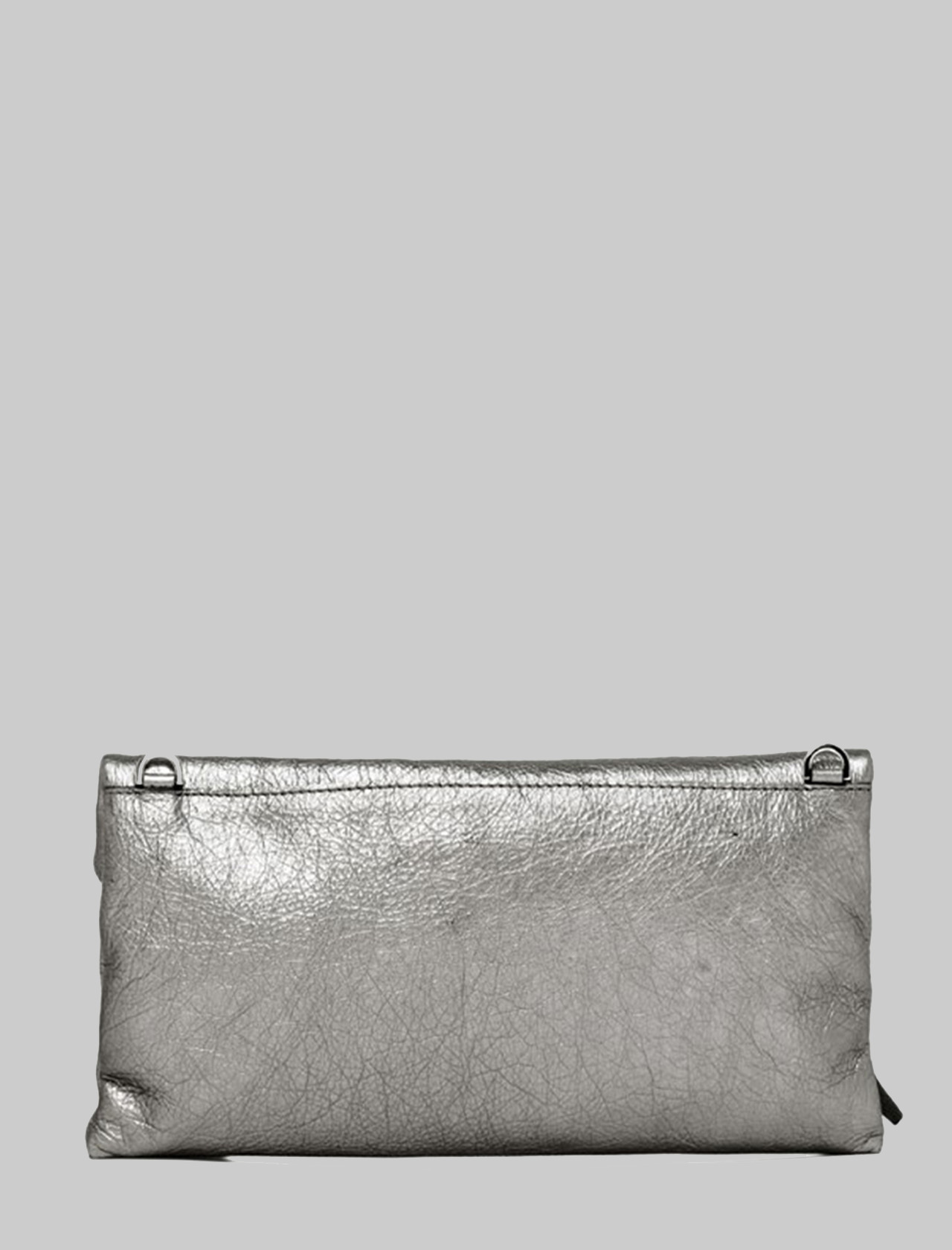 Cherry Women's Clutch Bag In Silver Laminated Leather With Tone Removable Shoulder Strap Gianni Chiarini | Bags and backpacks | BS7375359