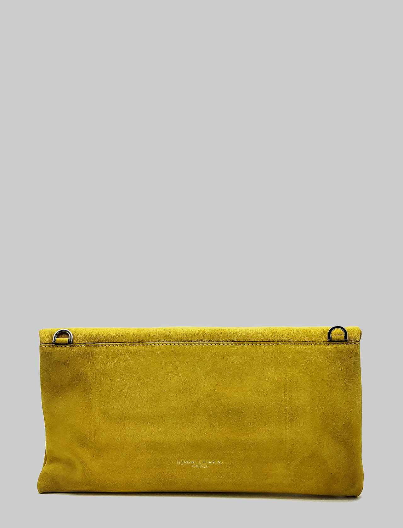 Cherry Women's Clutch Bag In Mustard Suede With Removable Tone Shoulder Strap Gianni Chiarini | Bags and backpacks | BS73755348