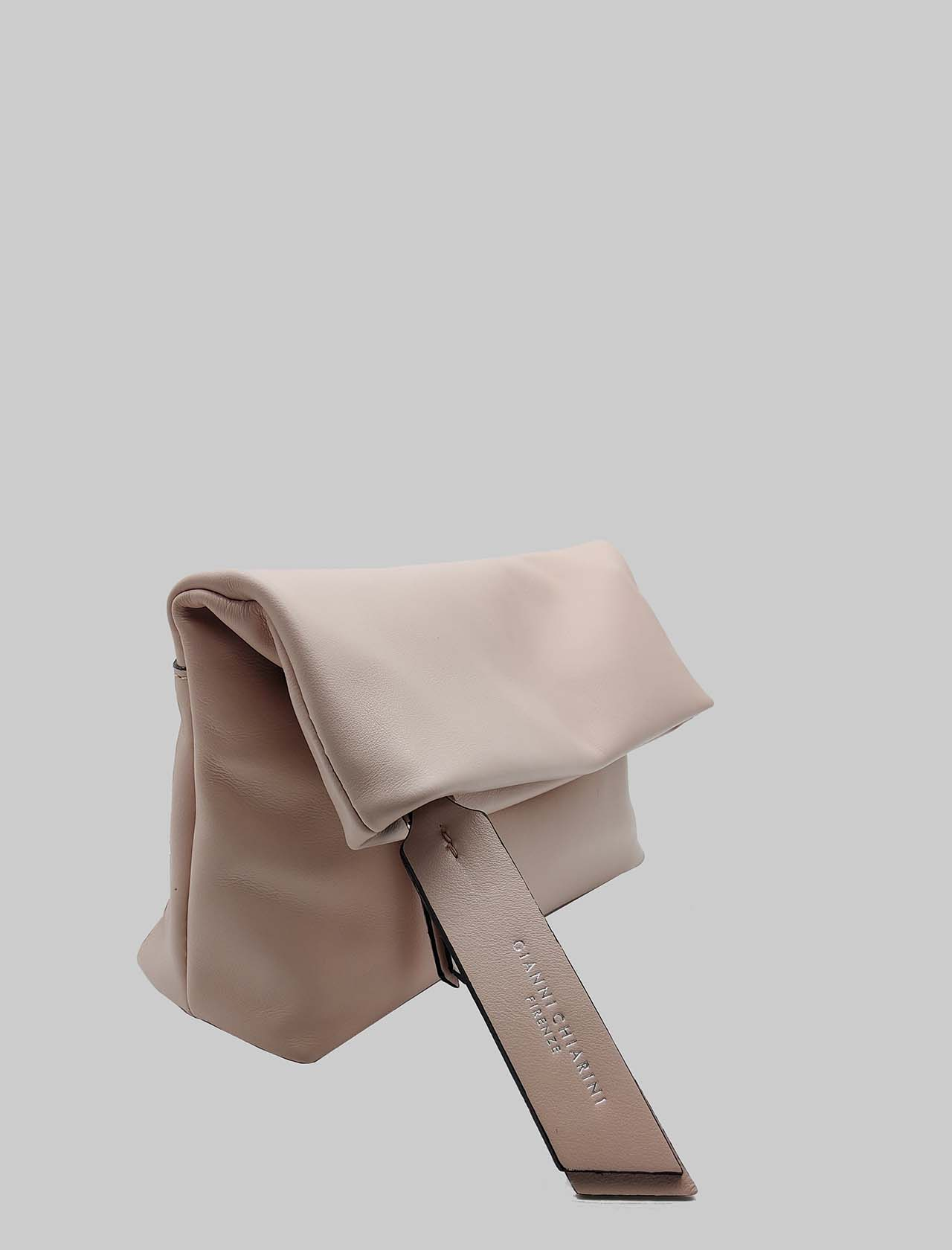 Cherry women's large clutch in powder pink smooth leather with removable shoulder strap Gianni Chiarini   Bags and backpacks   BS737710105