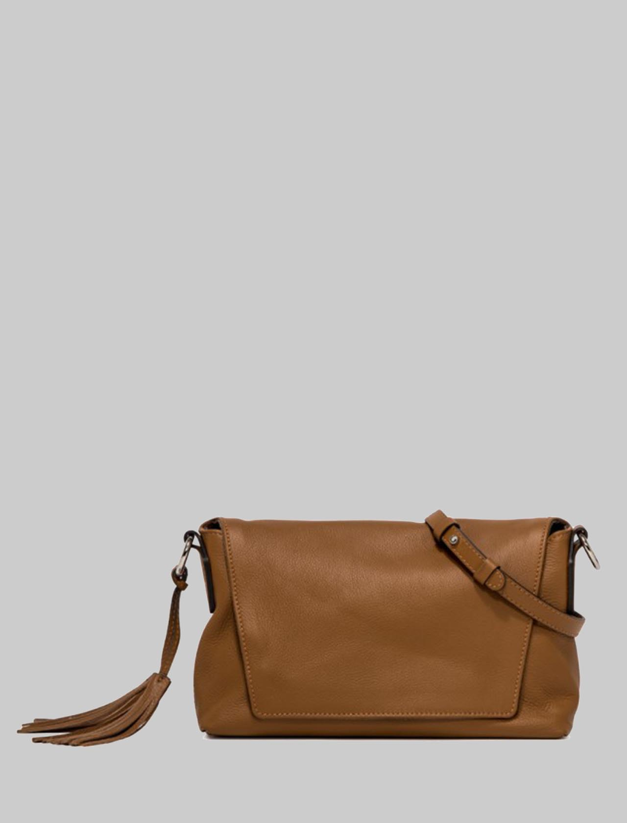 Africa Woman Shoulder Bag In Tan Leather With Chain Handle And Adjustable And Removable Shoulder Strap Gianni Chiarini | Bags and backpacks | BS7786206