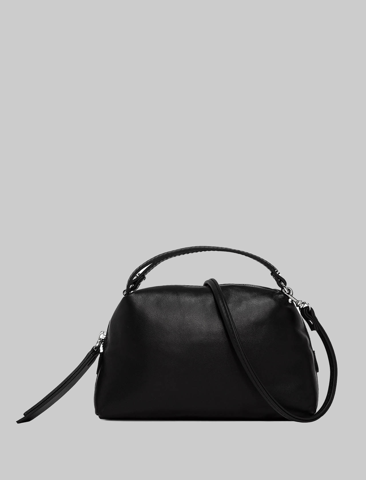 Mini Alifa Woman Bag in Black Leather with Double Hand Handle and Removable Shoulder Strap Gianni Chiarini | Bags and backpacks | BS8145001