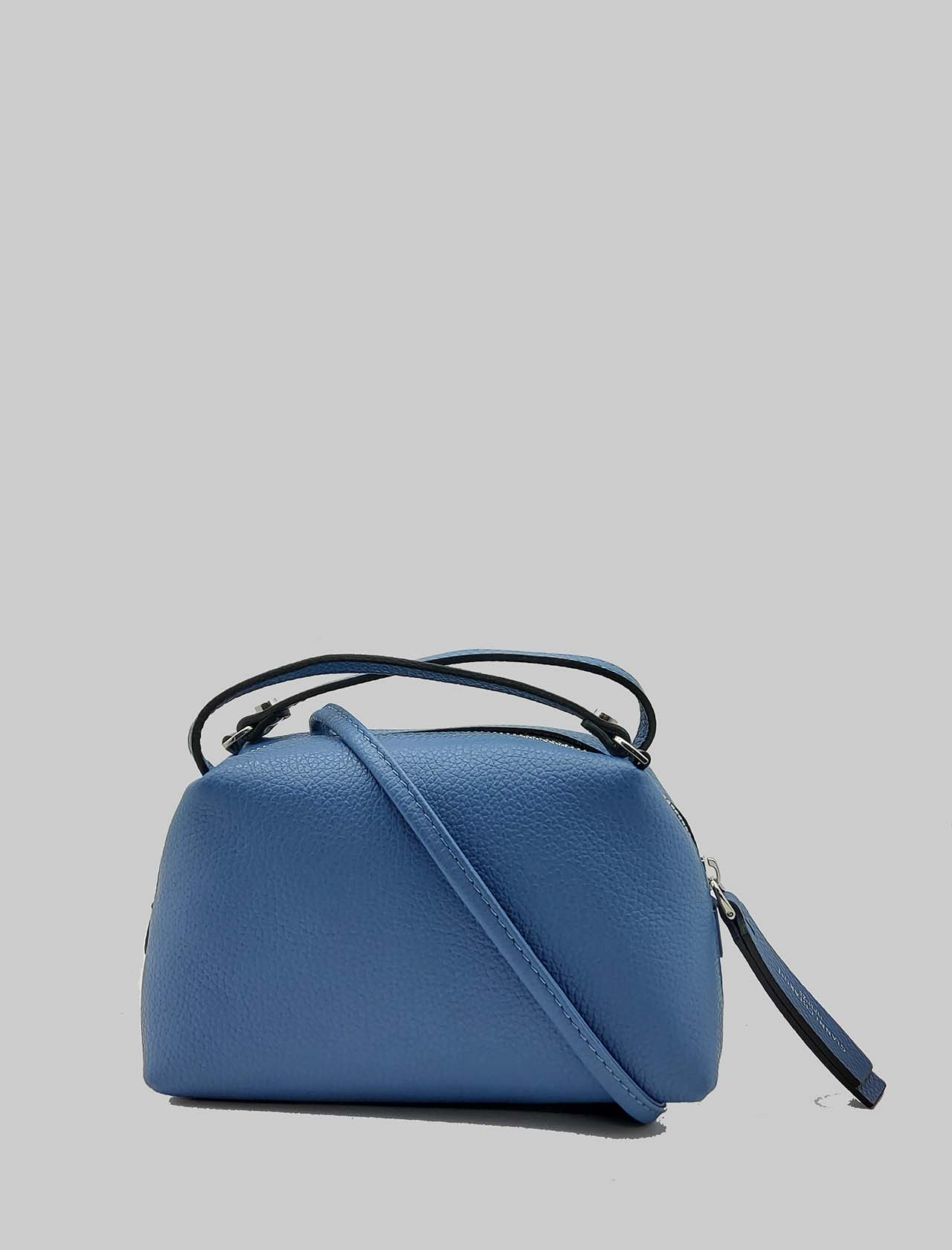 Small Alifa Woman Bag in Powder Blue Leather with Double Hand Handle and Removable Shoulder Strap Gianni Chiarini | Bags and backpacks | BS814511710