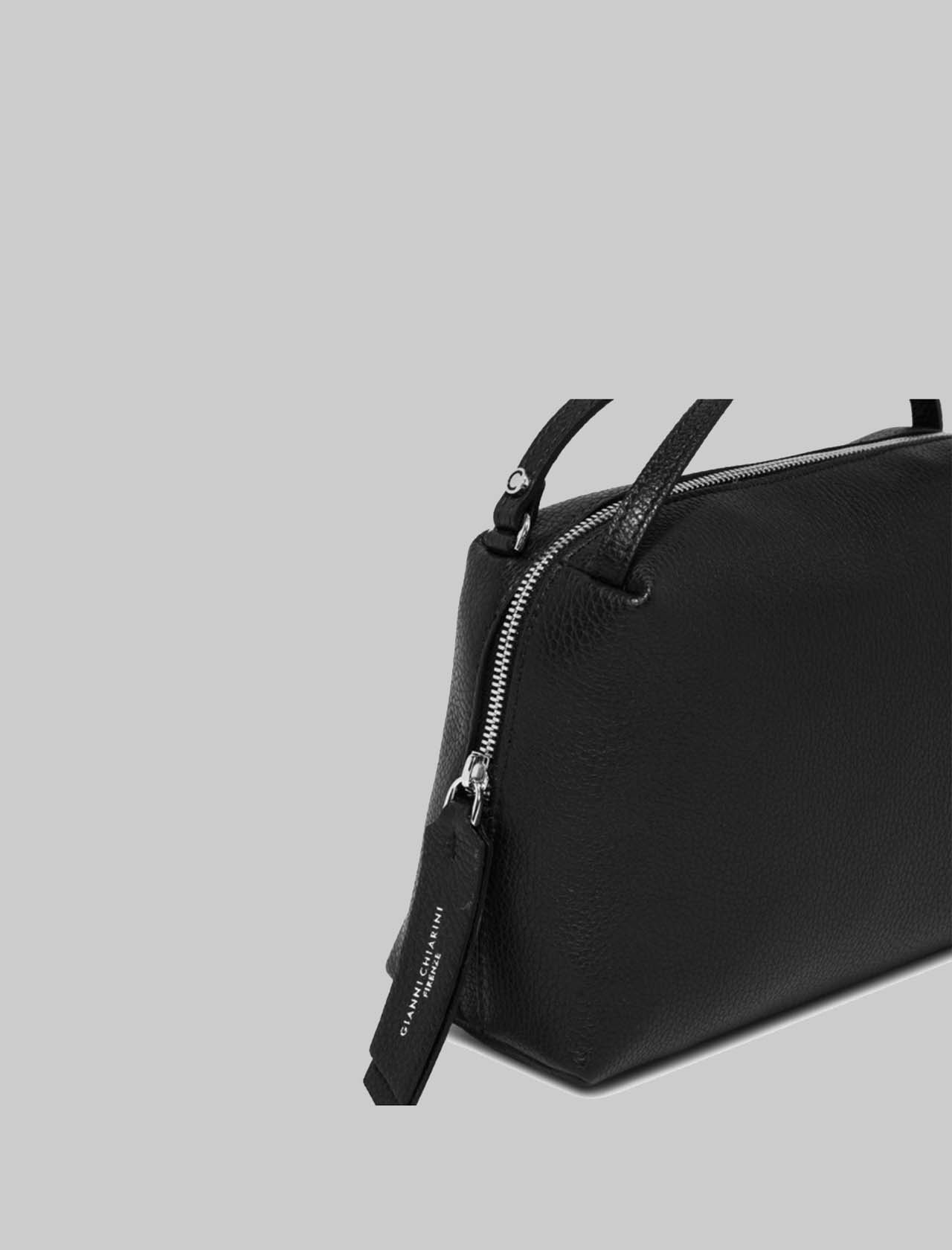 Alifa Woman's Bag in Black Leather with Double Hand Handle and Removable Shoulder Strap Gianni Chiarini | Bags and backpacks | BS8148001