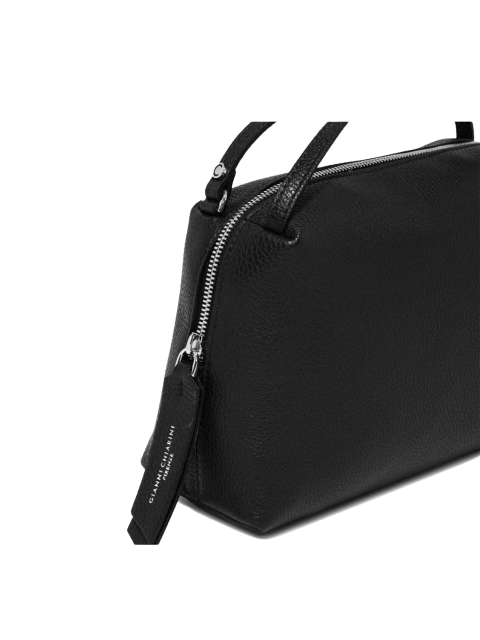 Alifa Woman's Bag in Black Leather with Double Hand Handle and Removable Shoulder Strap Gianni Chiarini   Bags and backpacks   BS8148001