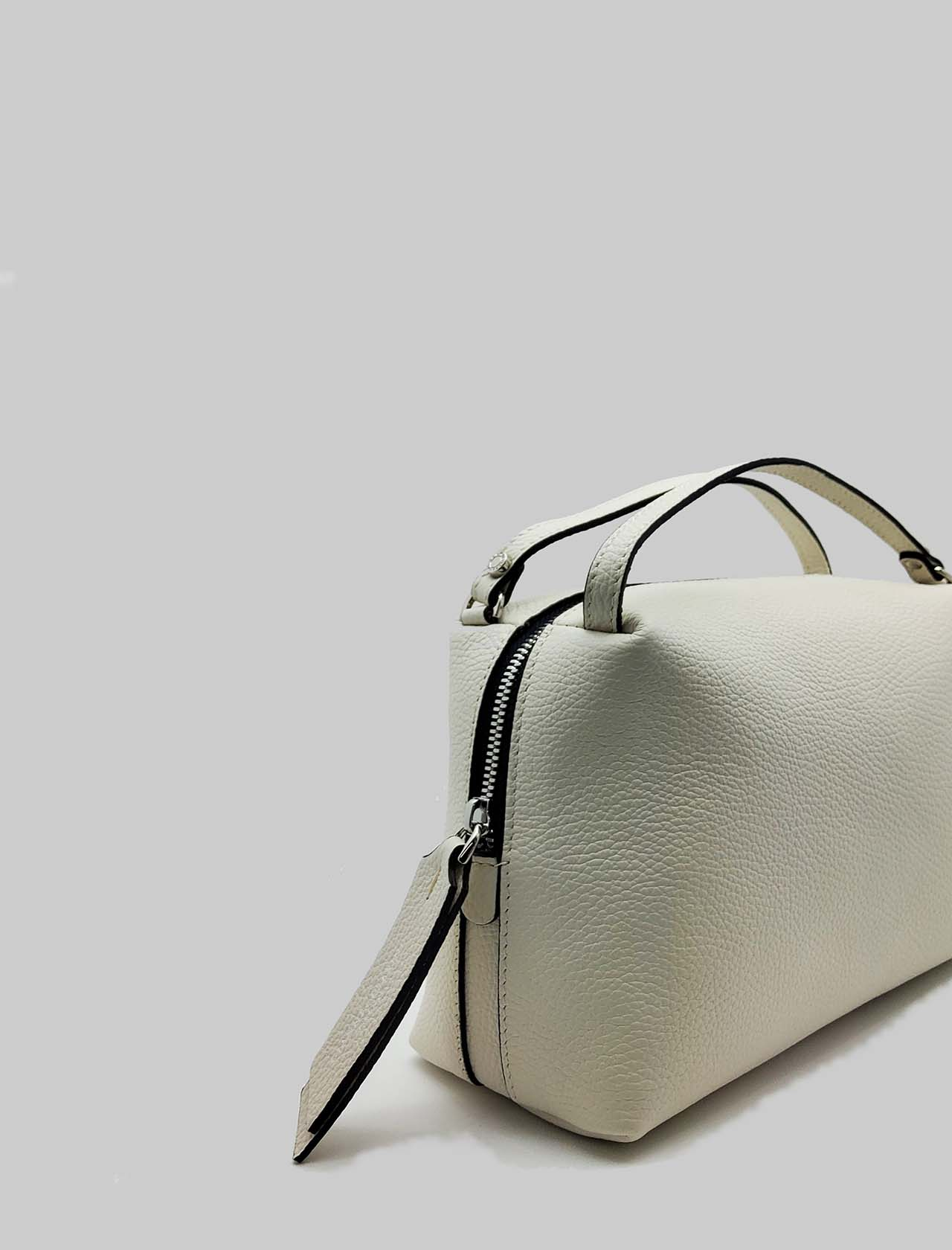 Alifa Woman Bag in Cream Leather with Double Hand Handle and Removable Shoulder Strap Gianni Chiarini | Bags and backpacks | BS81483089