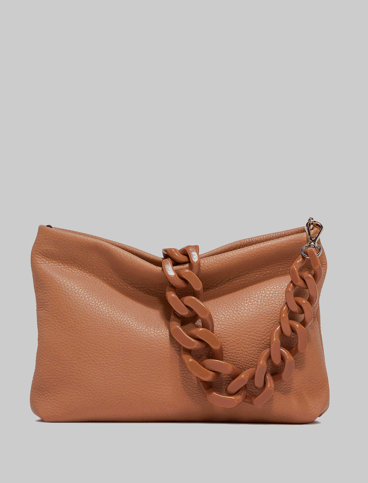 Brenda Woman Shoulder Bag In Tan Leather With Matching Chain And Adjustable And Removable Shoulder Strap Gianni Chiarini | Bags and backpacks | BS826511041
