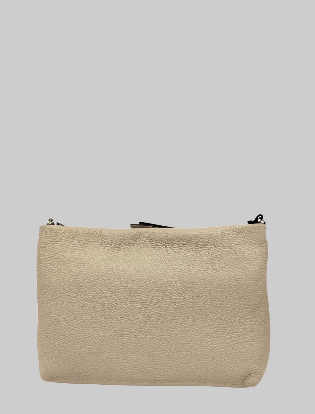 Brenda Shoulder Bag In Cream Leather With Matching Chain And Adjustable And Removable Shoulder Strap Gianni Chiarini | Bags and backpacks | BS82652971