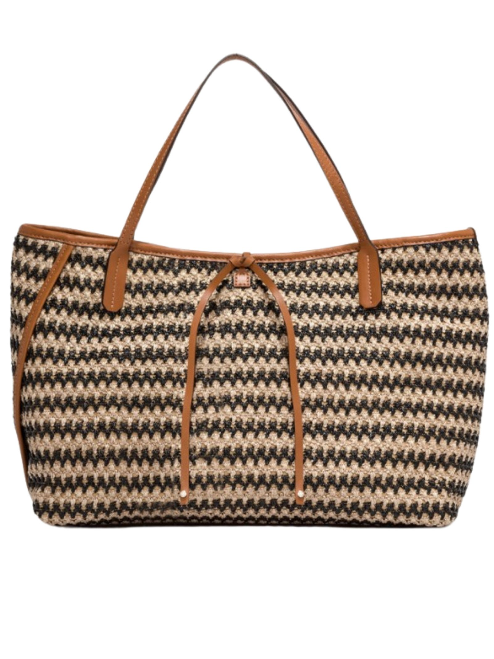 Ray Woman Shoulder Bag In Bicolor Braided Raffia With Leather Leather Inserts Gianni Chiarini | Bags and backpacks | BS835111768