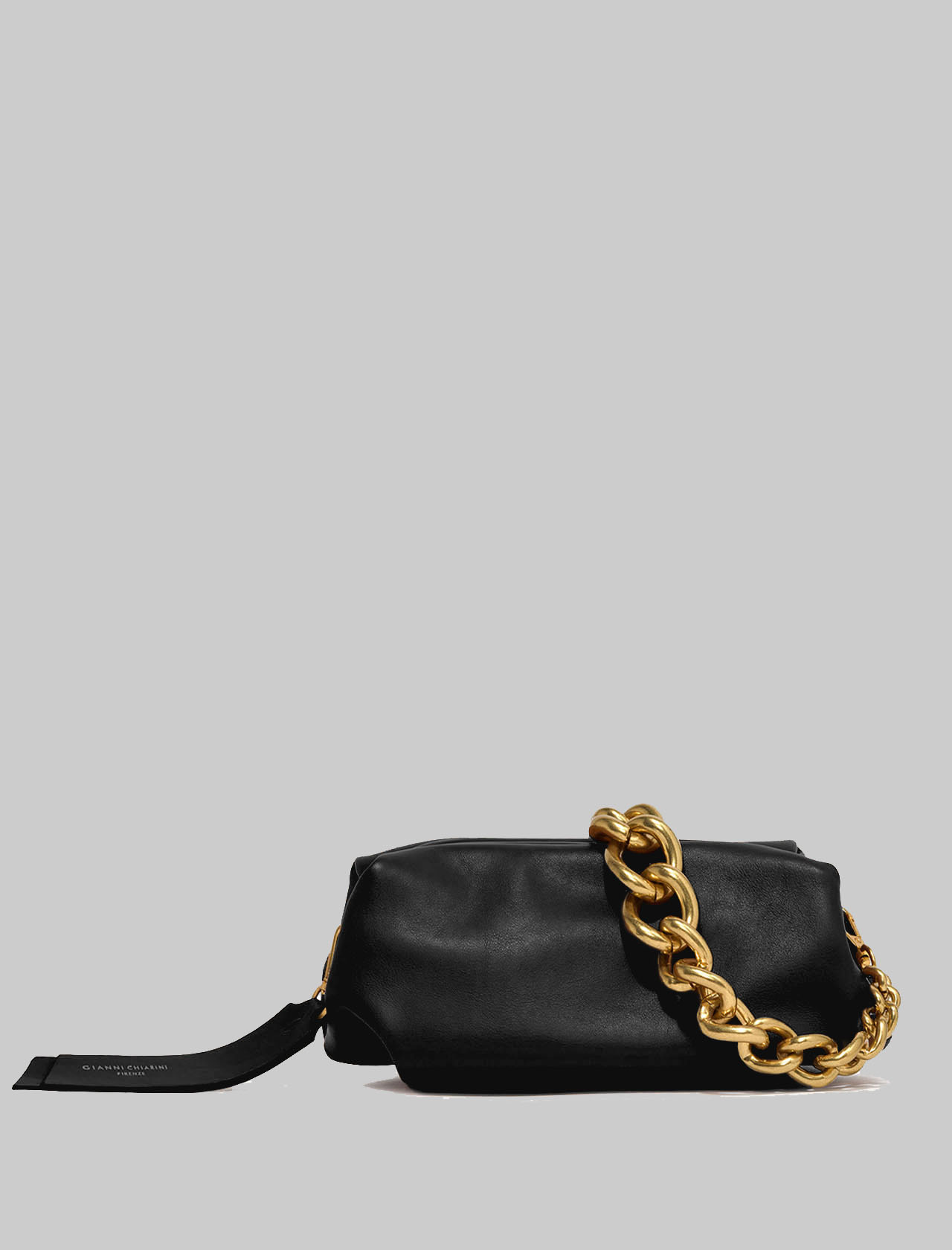 Small Colette Woman Bag In Black Leather With Gold Chain And Removable And Adjustable Shoulder Strap Gianni Chiarini | Bags and backpacks | BS8404001
