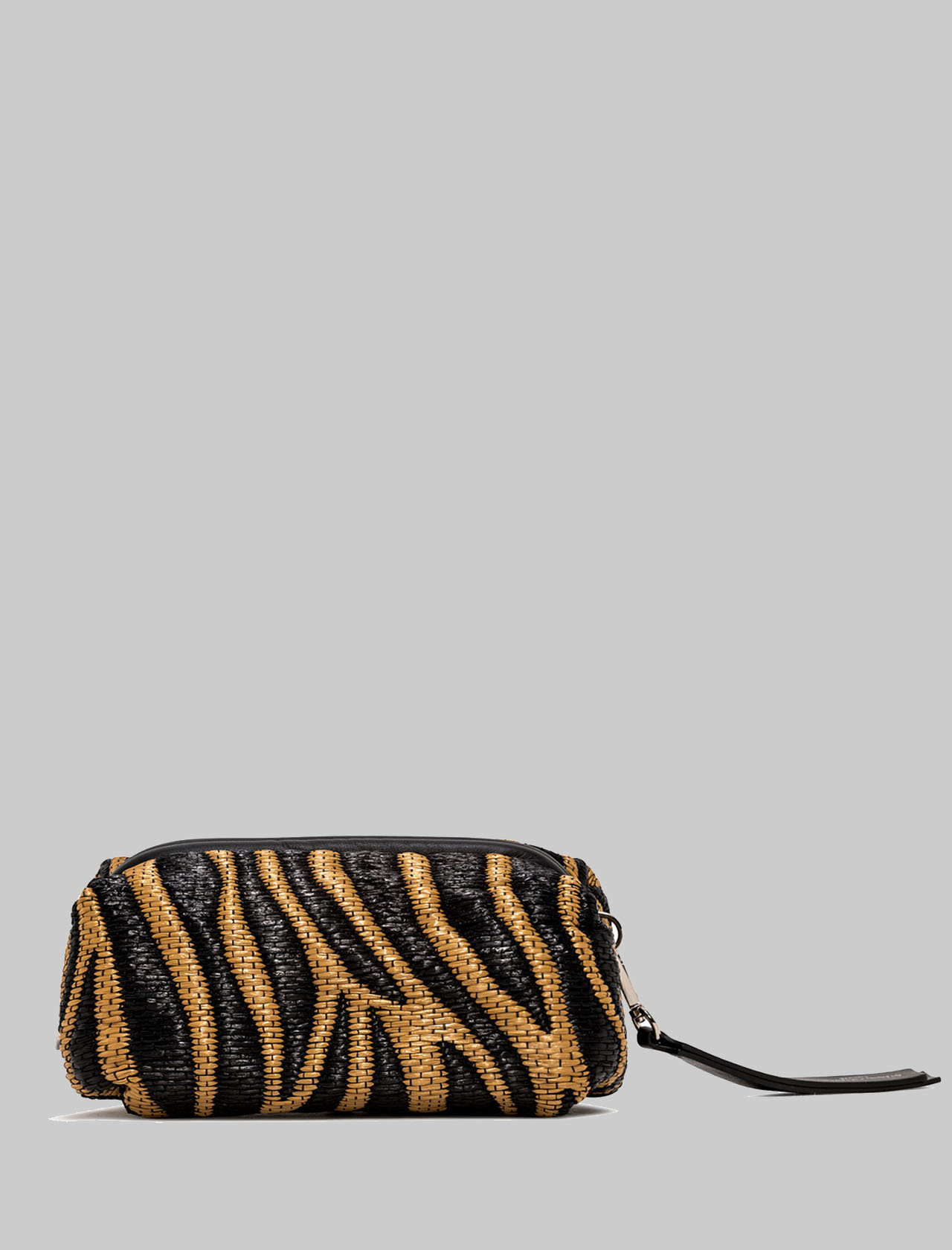 Small Colette Woman Bag In Brown And Black Animalier Zebra Fabric And Leather With Chain And Removable And Adjustable Shoulder Strap Gianni Chiarini | Bags and backpacks | BS840411870