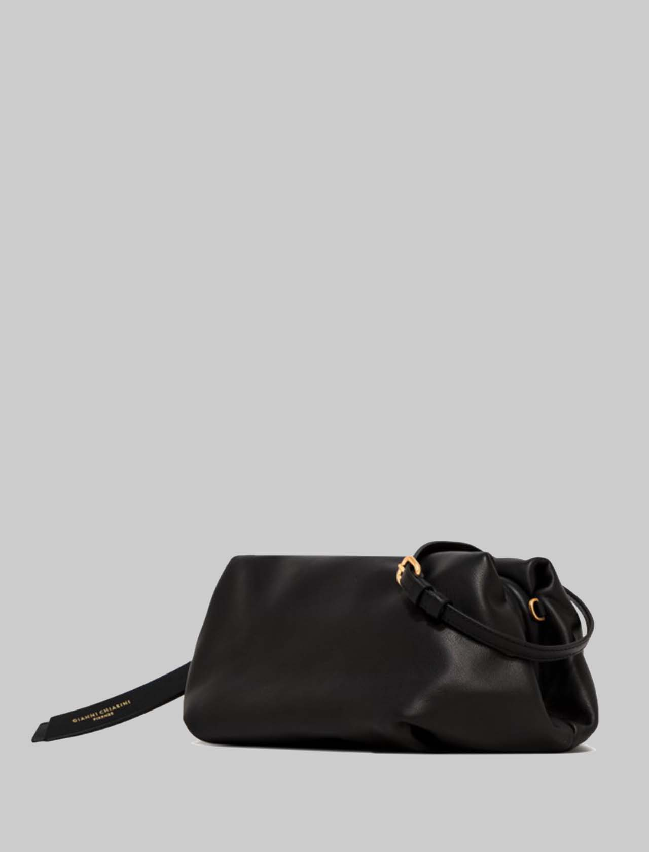 Colette Woman Bag In Black Leather With Gold Chain And Removable Leather Shoulder Strap Gianni Chiarini | Bags and backpacks | BS8405001