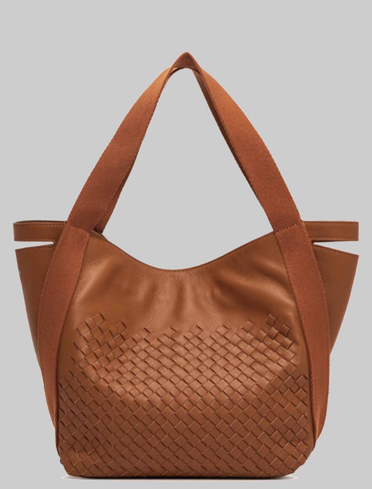 Woman Asia Shoulder Bag In Braided Leather with Handles in Tint Gianni Chiarini | Bags and backpacks | BS8410206