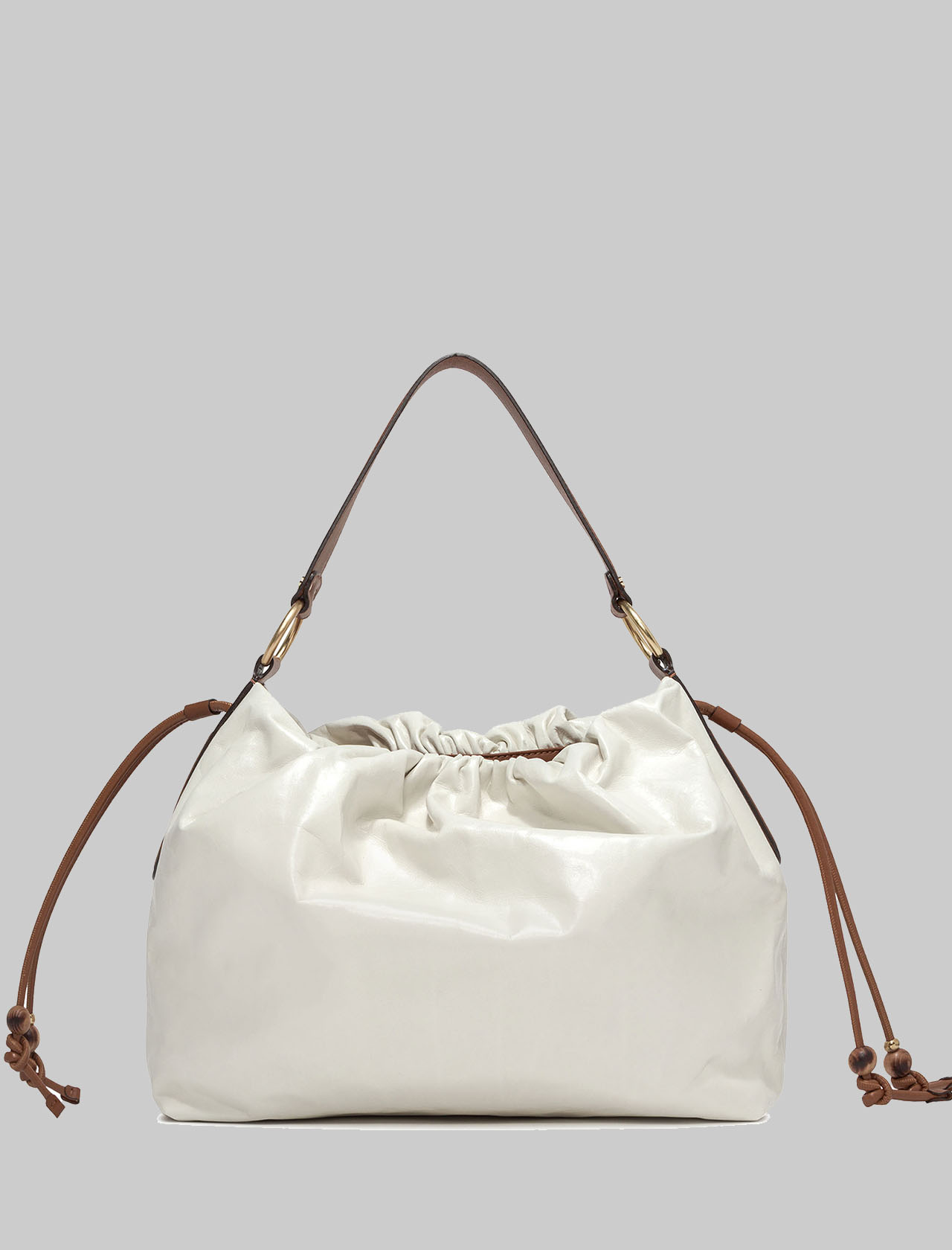 Shoulder Bags Woman Maxi Peonia in Cream Leather with Fixed Handles in Tan Leather Gianni Chiarini | Bags and backpacks | BS84213890