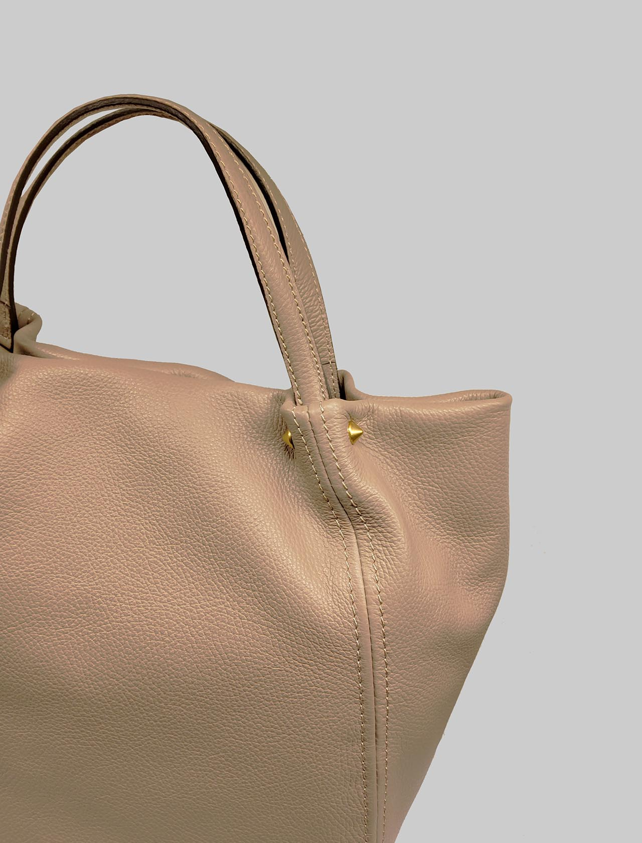 Toulip Woman Shoulder Bag In Beige Leather With Double Handle And Removable And Adjustable Shoulder Strap Gianni Chiarini | Bags and backpacks | BS846511706