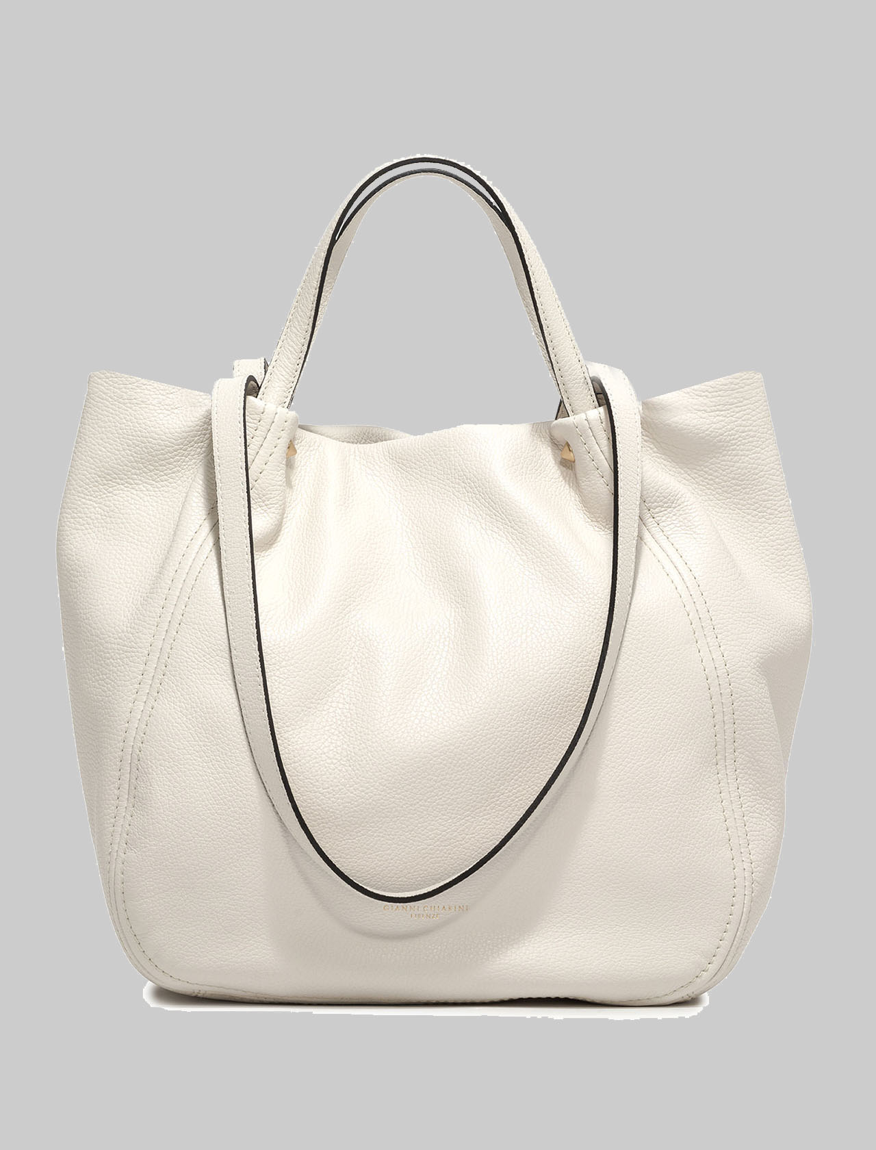 Toulip Shoulder Bag In Cream Leather With Double Handle And Removable And Adjustable Shoulder Strap Gianni Chiarini | Bags and backpacks | BS84653890