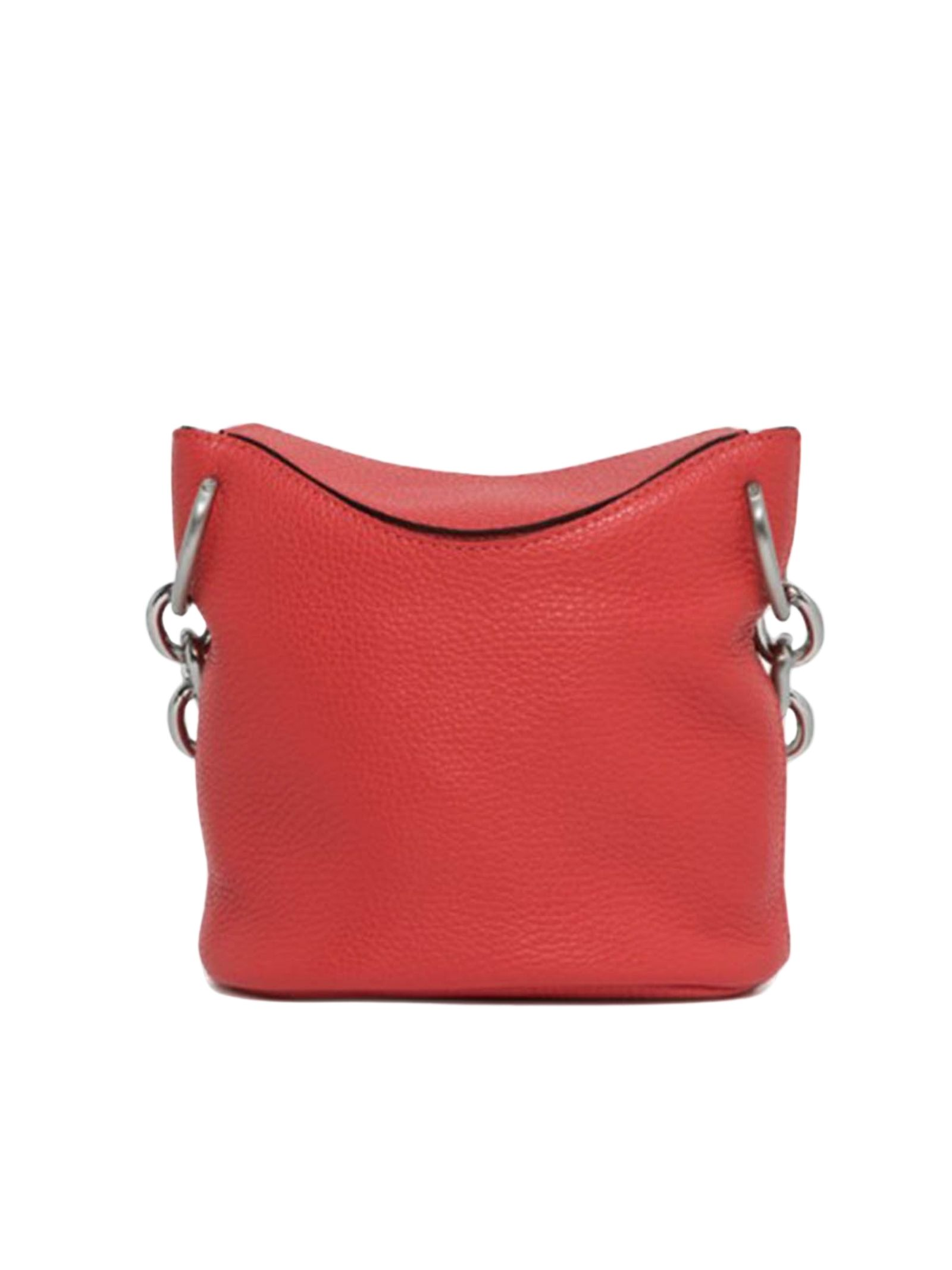 Sophia Small Women's Satchel Bag In Red Leather With Silver Chain And Adjustable And Removable Shoulder Strap Gianni Chiarini   Bags and backpacks   BS851511707