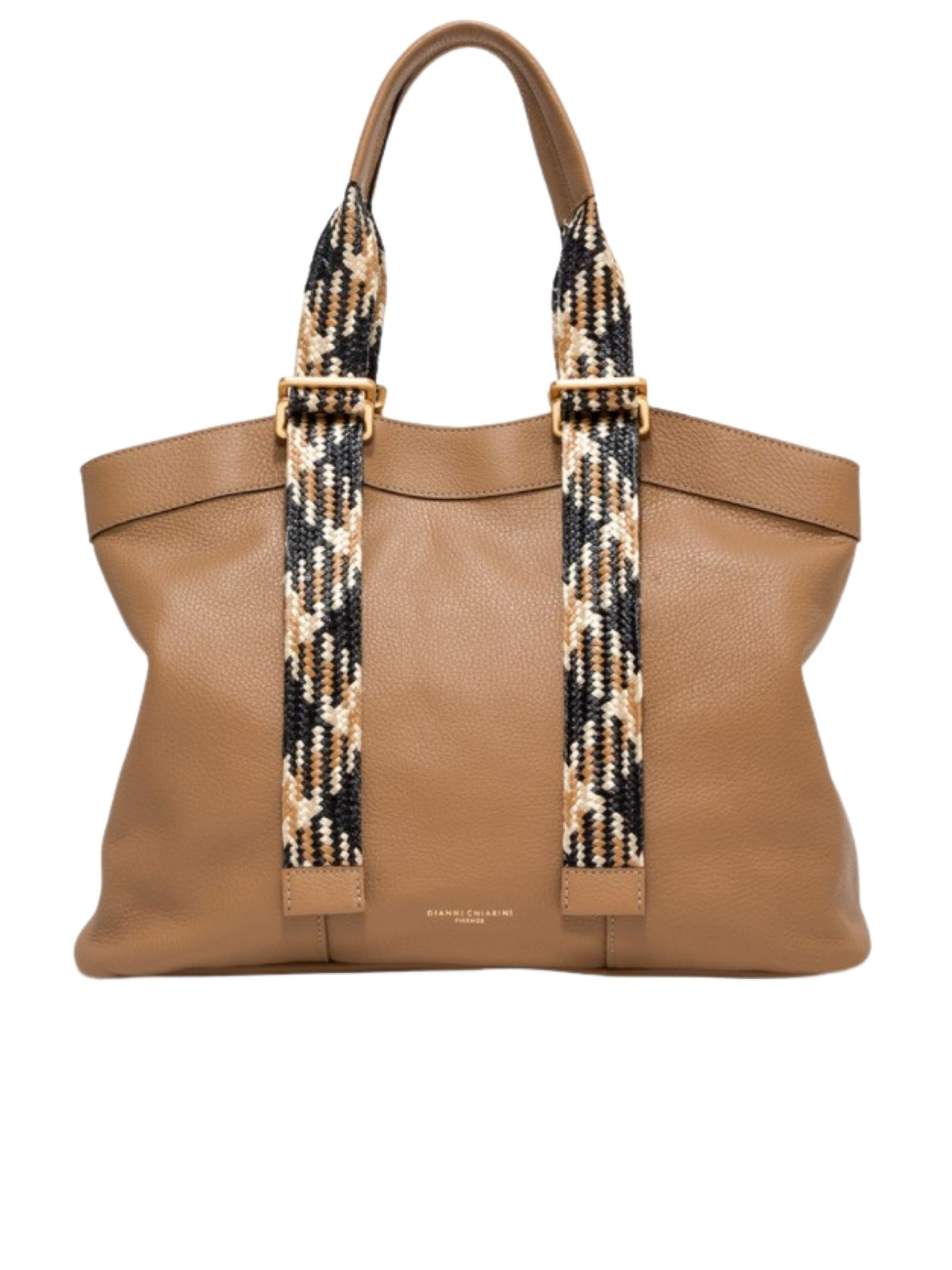 Amaranta Woman Shoulder Bag In Tan Leather With Multicolor Adjustable Handles Gianni Chiarini | Bags and backpacks | BS85200226