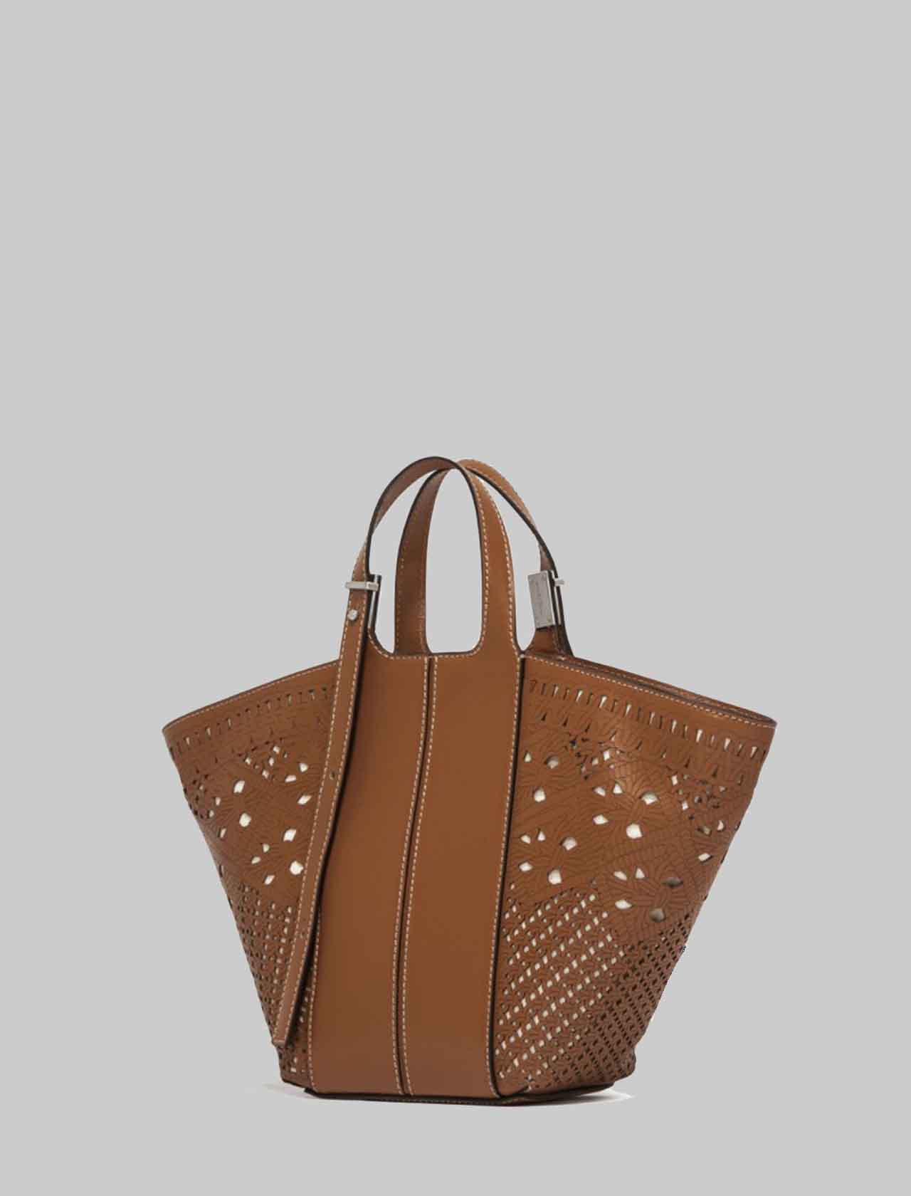 Mini Diletta Woman Bag In Tan Leather With Adjustable Handles Gianni Chiarini | Bags and backpacks | BS8595206